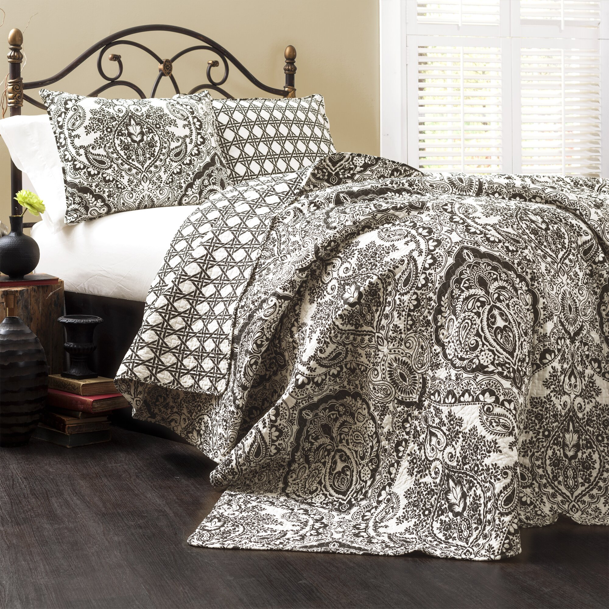 Three posts cazenovia 3 piece quilt set reviews wayfair for Quilted kitchen set