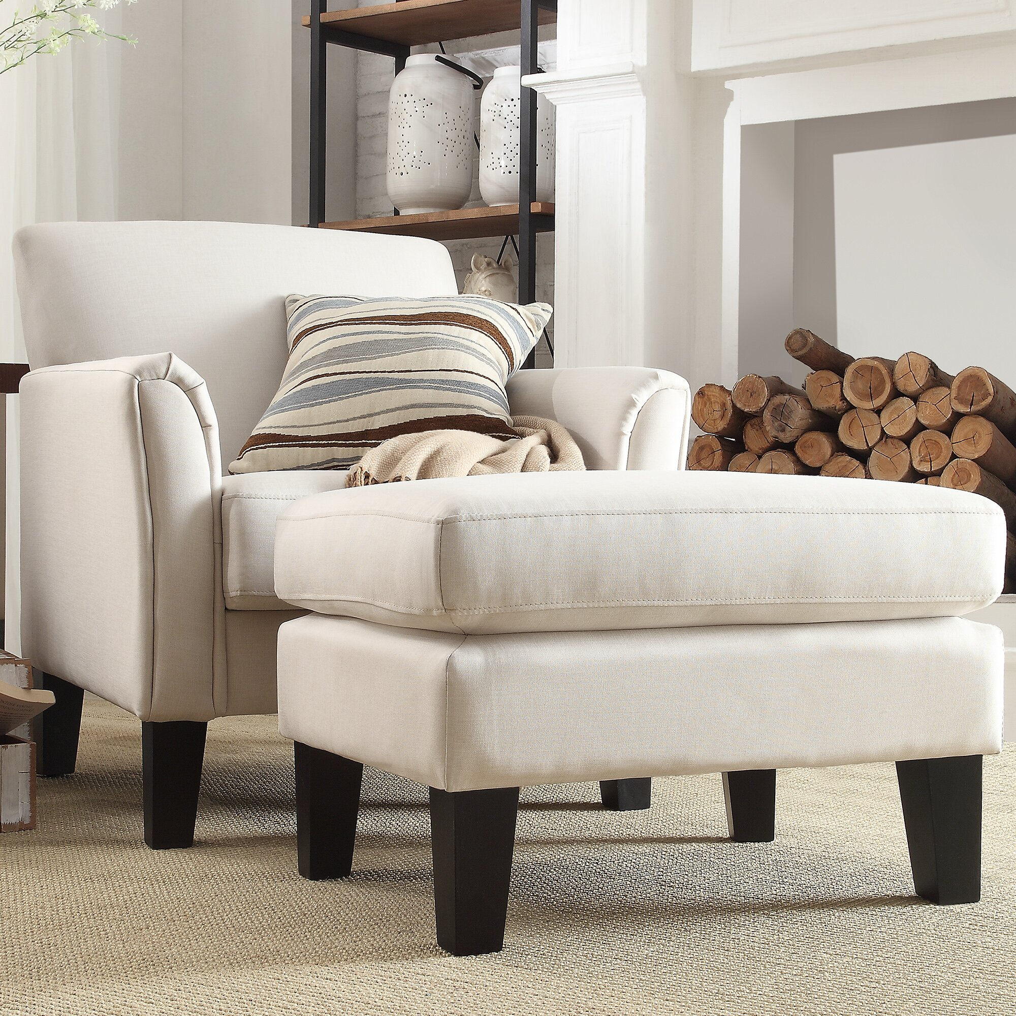 Three Posts Oliver Modern Arm Chair And Ottoman Amp Reviews