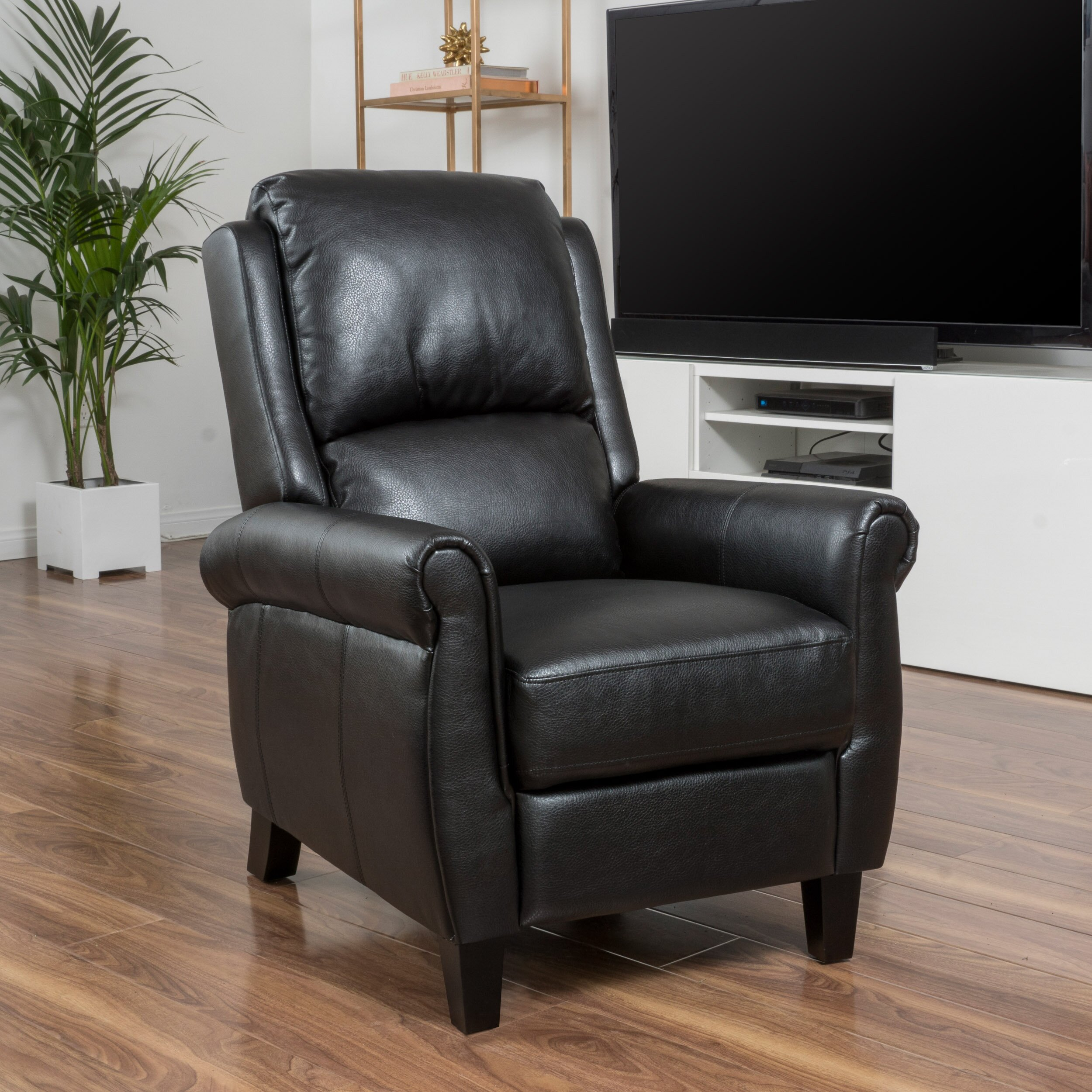 deerfiled pu leather recliner club chair reviews wayfair supply