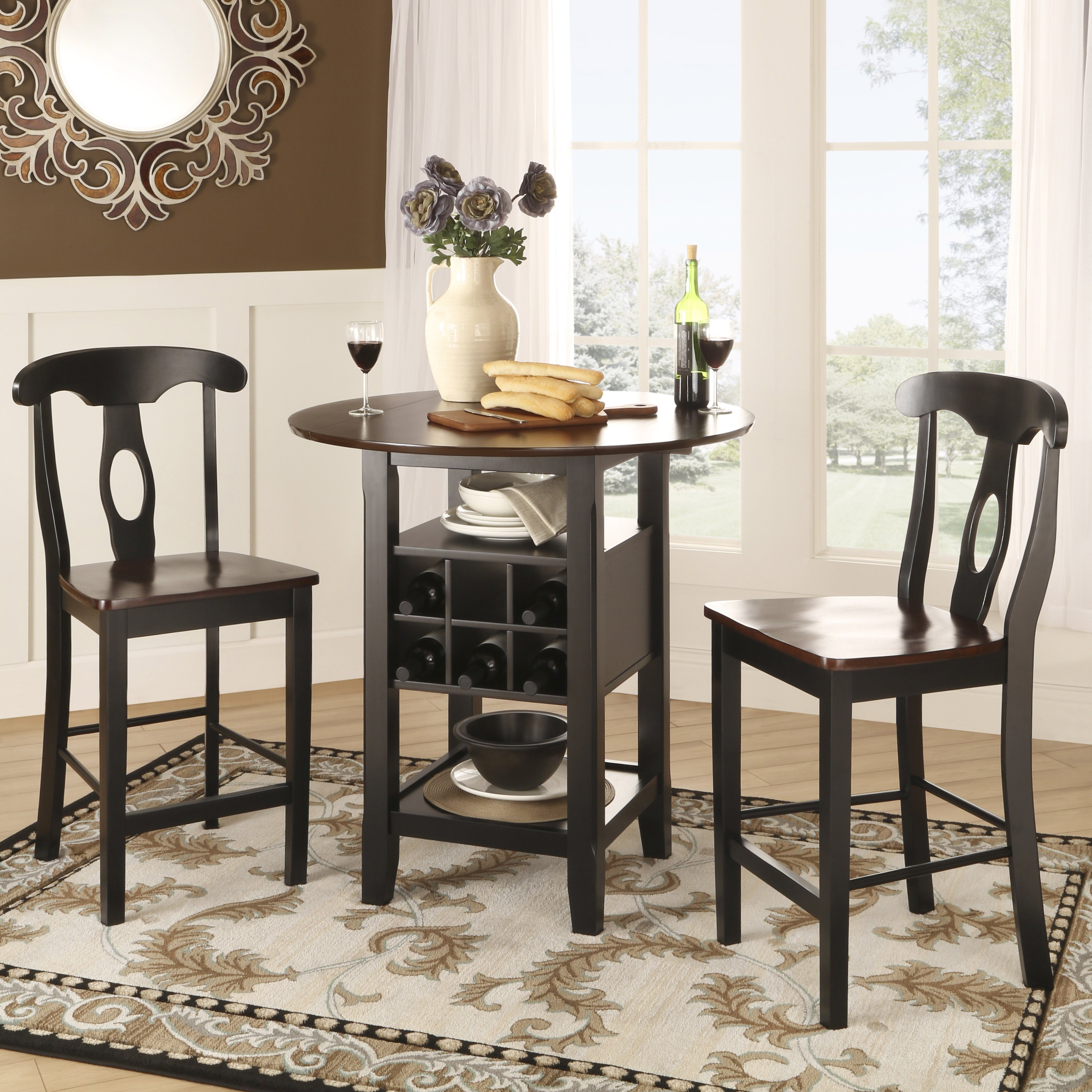 Three Posts Bayford 3 Piece Counter Height Pub Table Set