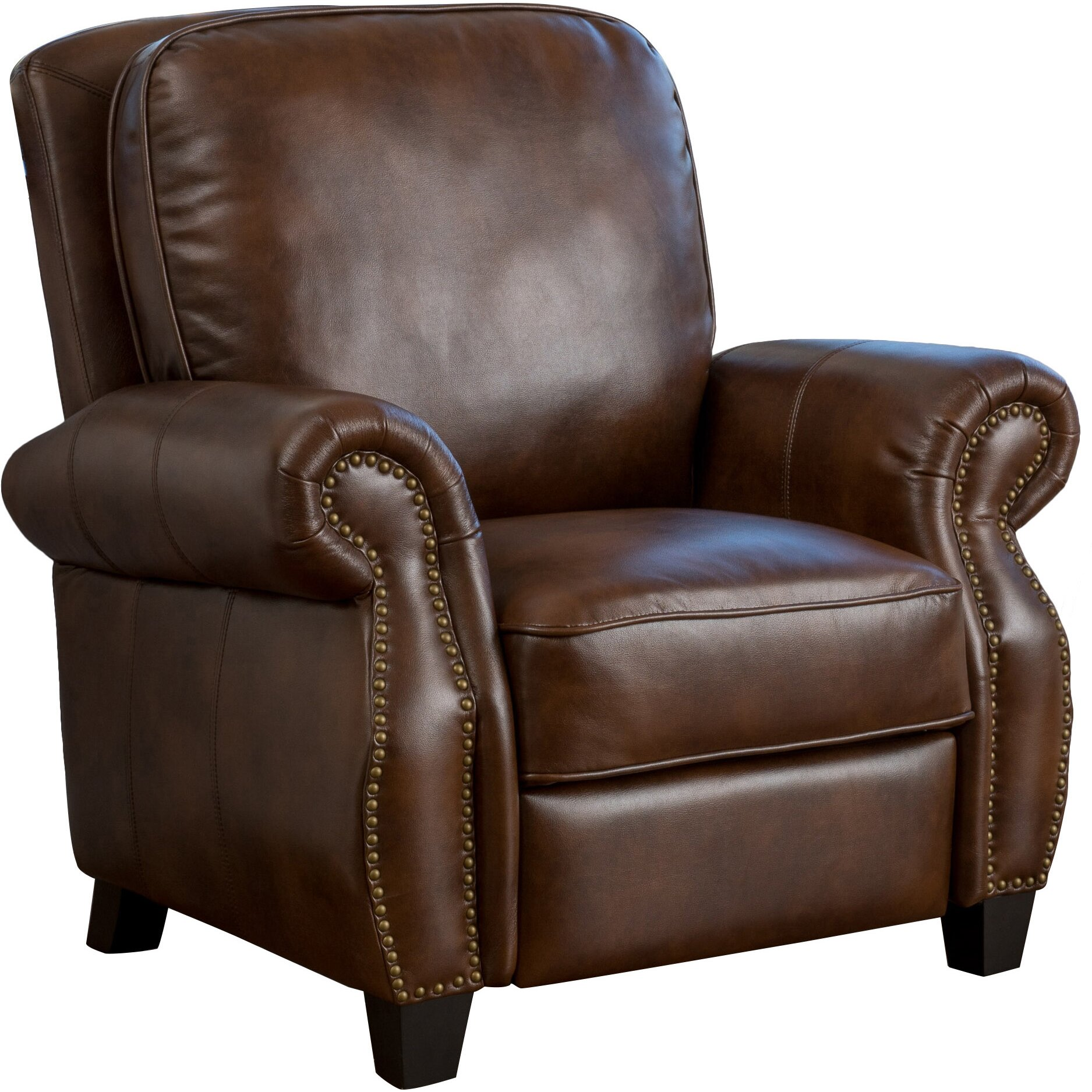 Three Posts Tully Faux Leather Recliner Amp Reviews Wayfair