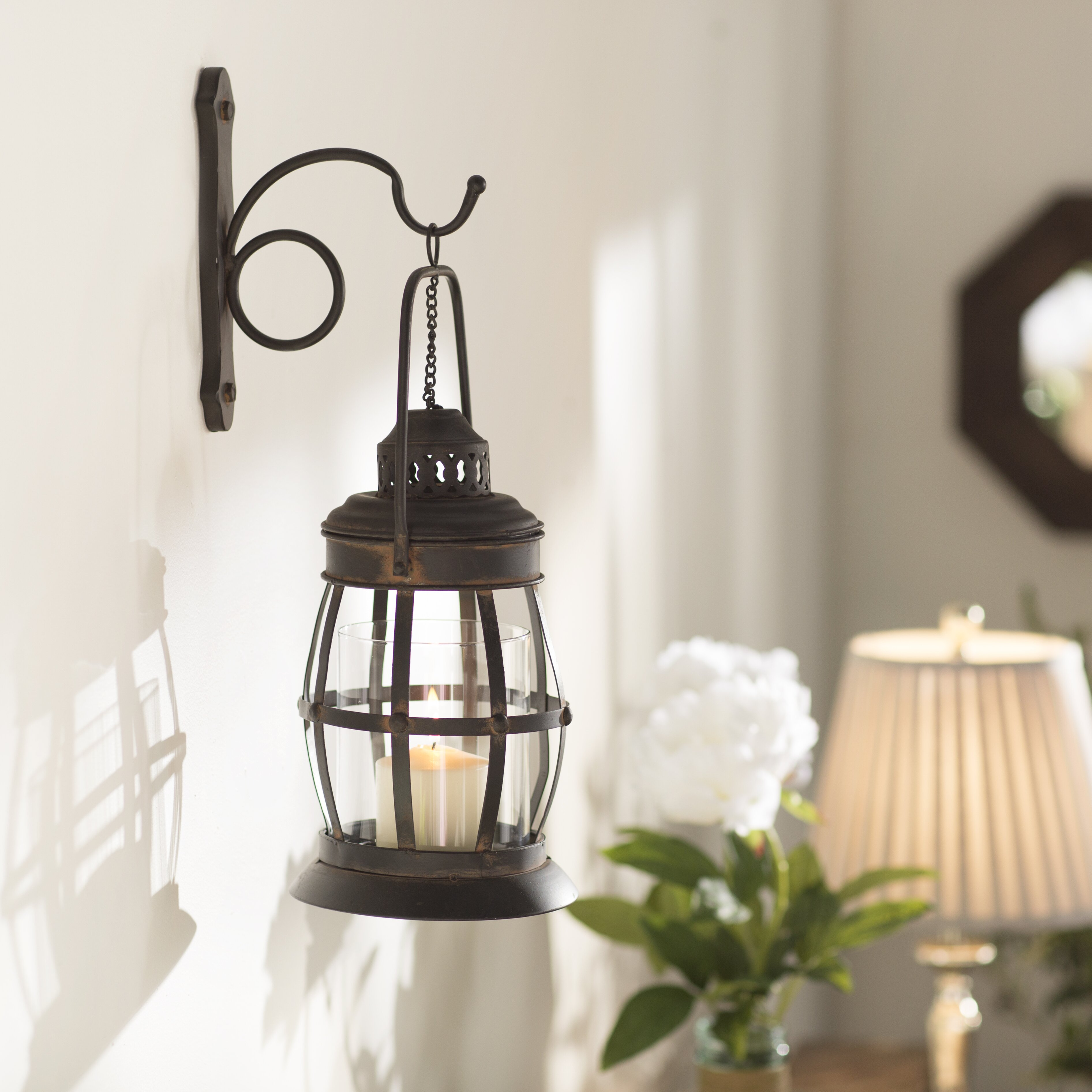 Decorative Candle Wall Sconces For Living Room : Three Posts Gala 1 Light Wall Sconce & Reviews Wayfair