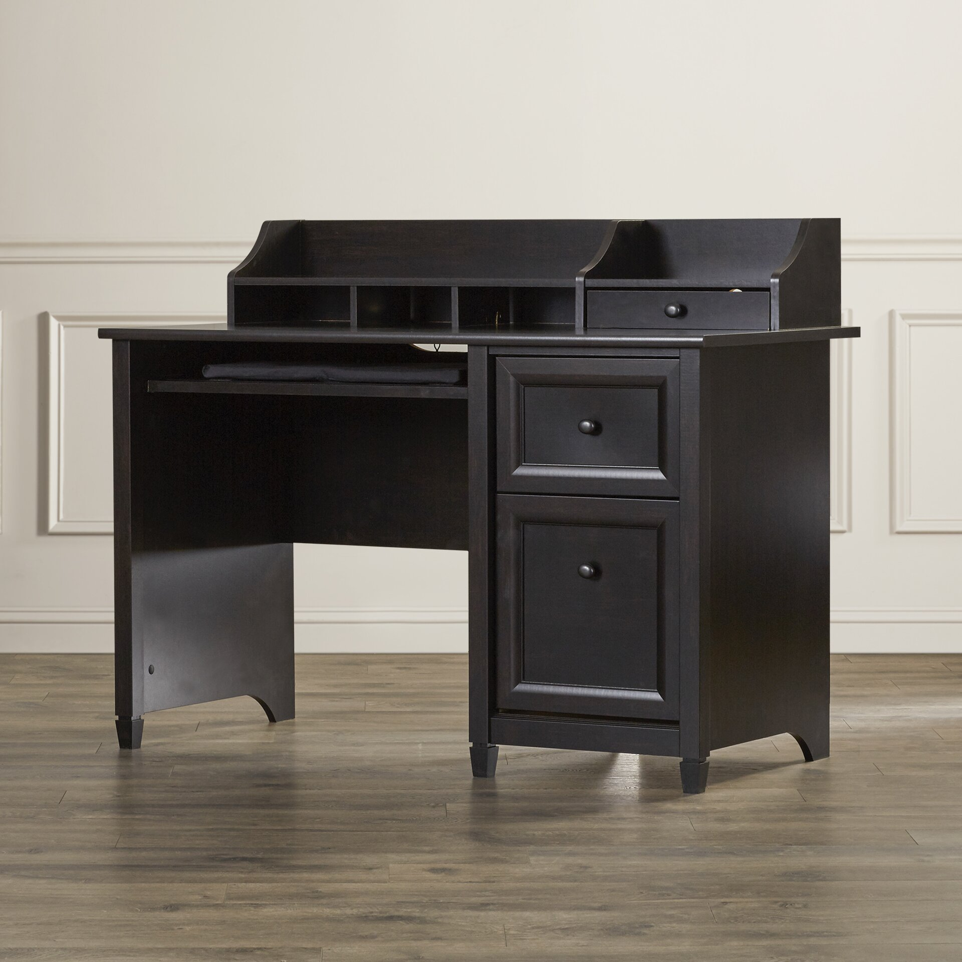 three posts lamantia computer desk with keyboard tray reviews wayfair. Black Bedroom Furniture Sets. Home Design Ideas