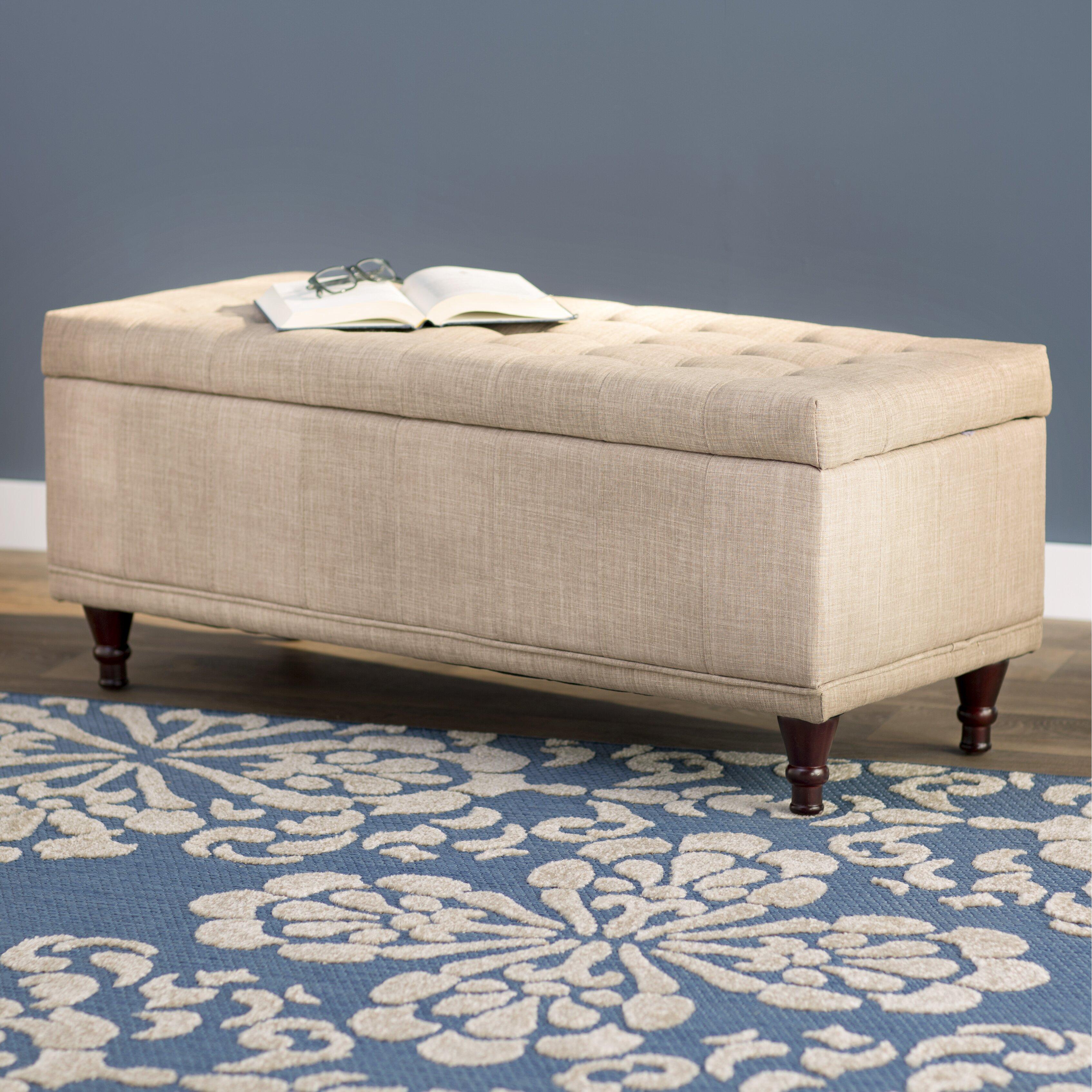 Three Posts Southampton Upholstered Storage Bedroom Bench Reviews Wayfair