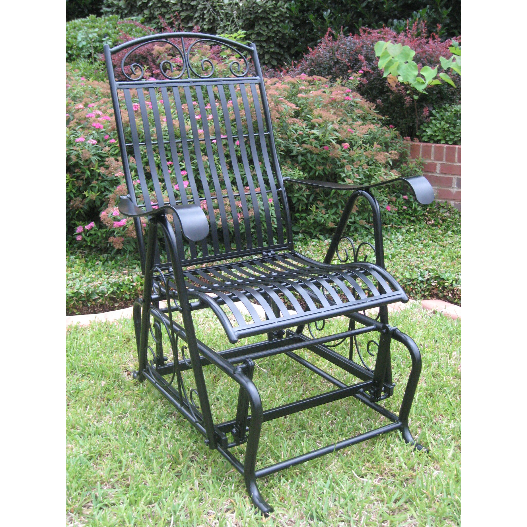... Posts Snowberry Iron Single Patio Glider Chair & Reviews  Wayfair