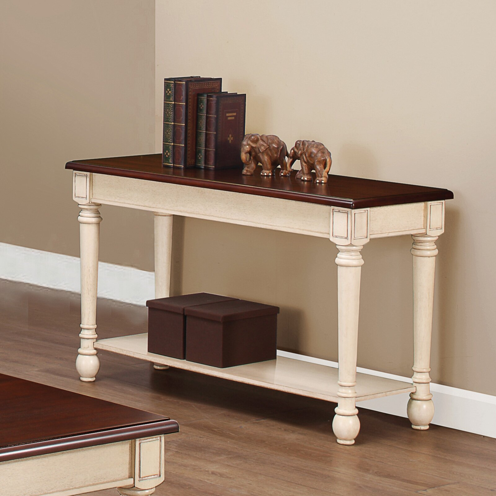 Three Posts Classic Two Tone Sofa Table Amp Reviews Wayfair
