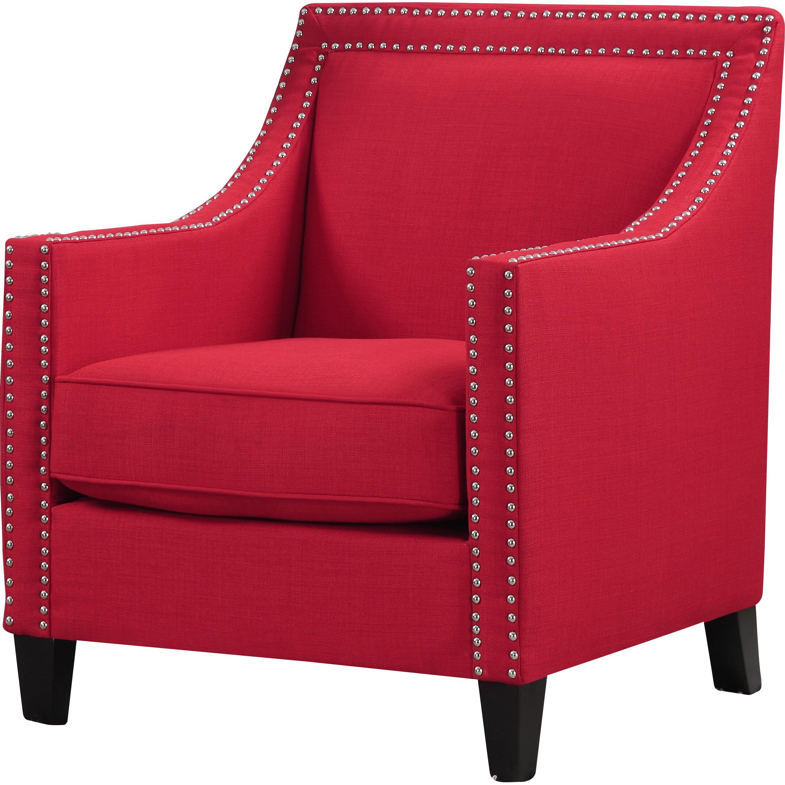 Three Posts Rotterdam Studded Arm Chair Amp Reviews Wayfair