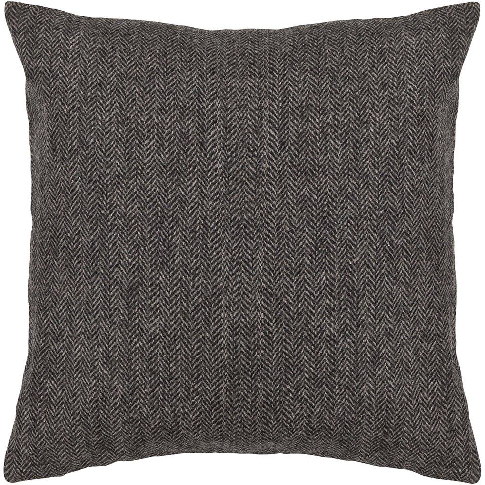 Grey Wool Throw Pillow : Three Posts Marietta Textured Grey Wool Throw Pillow & Reviews Wayfair