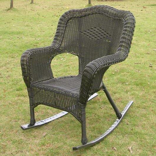 Three Posts Wyndmoor Wicker Resin Outdoor Rocking Chair & Reviews