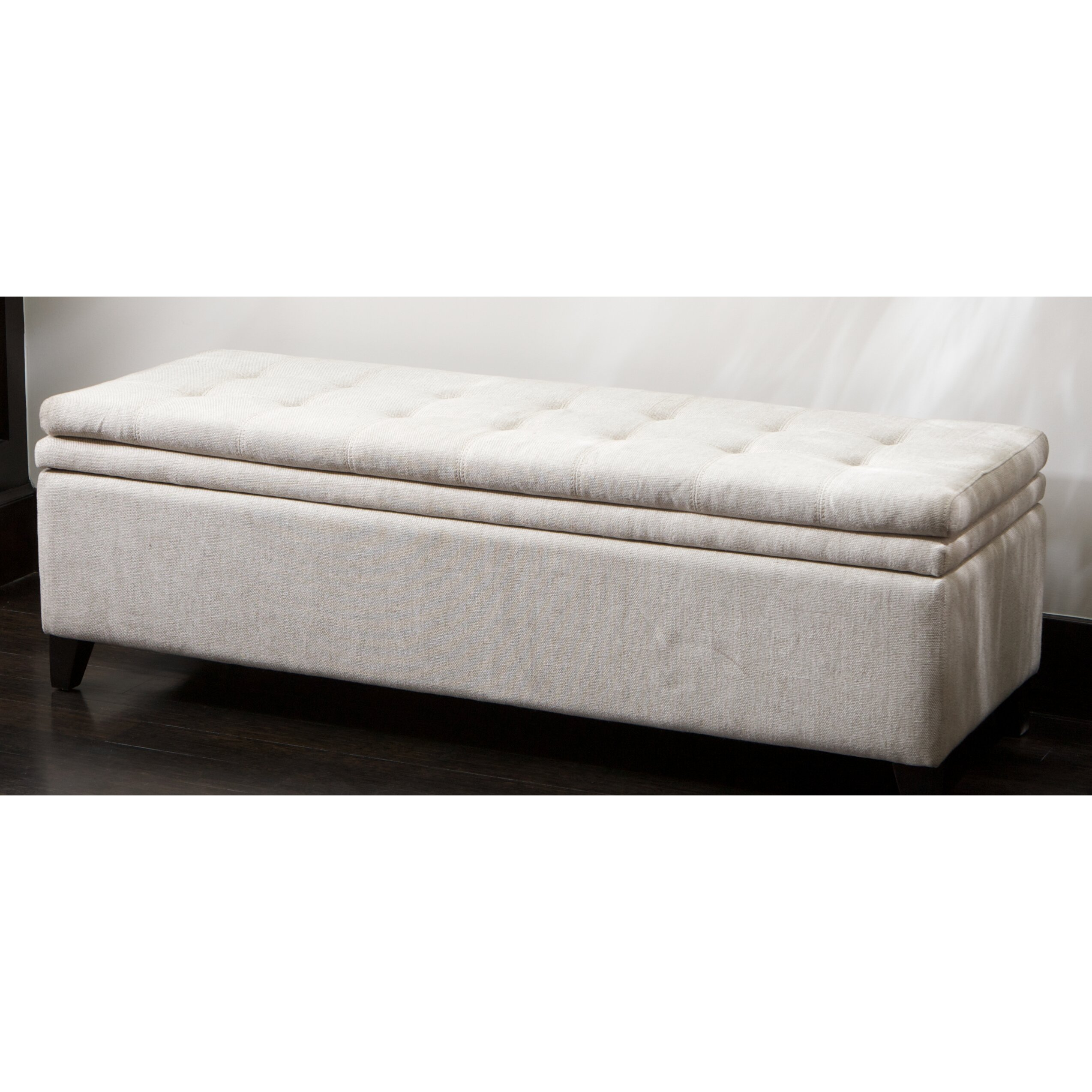 Three Posts Polycarp Storage Ottoman Reviews: Three Posts Loganton Storage Bench & Reviews
