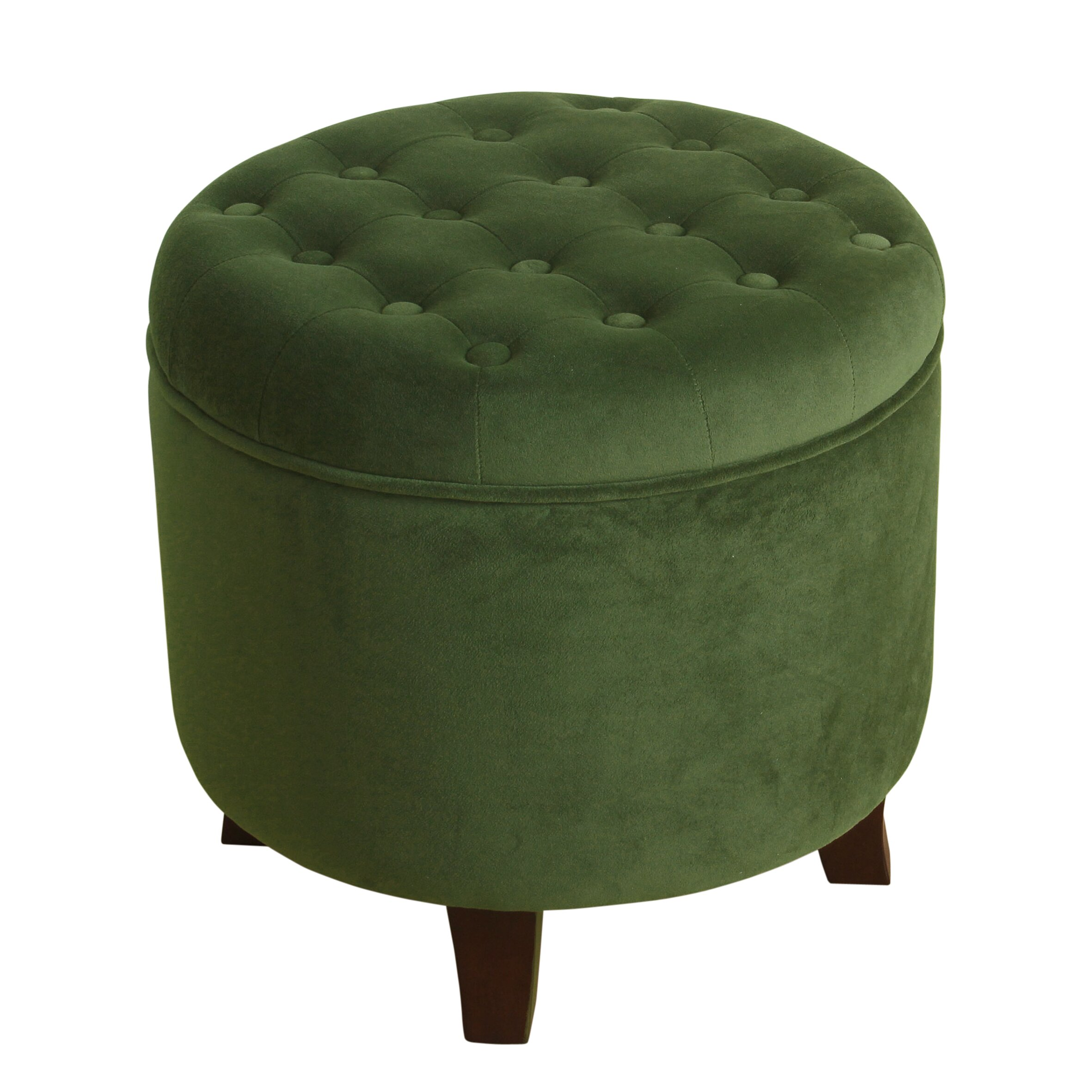 Three Posts Polycarp Storage Ottoman Reviews: Three Posts Alamo Velvet Round Storage Ottoman