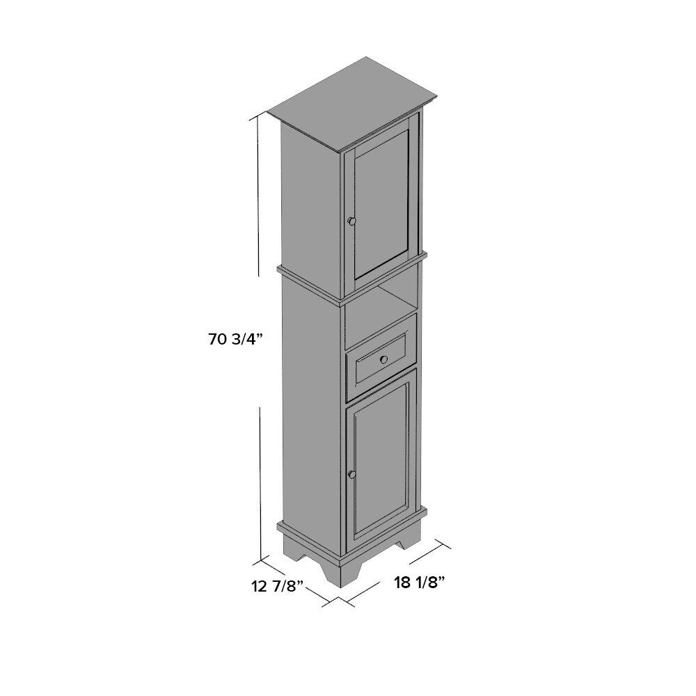 Three Posts New Paltz 1 Drawer Tall Cabinet & Reviews