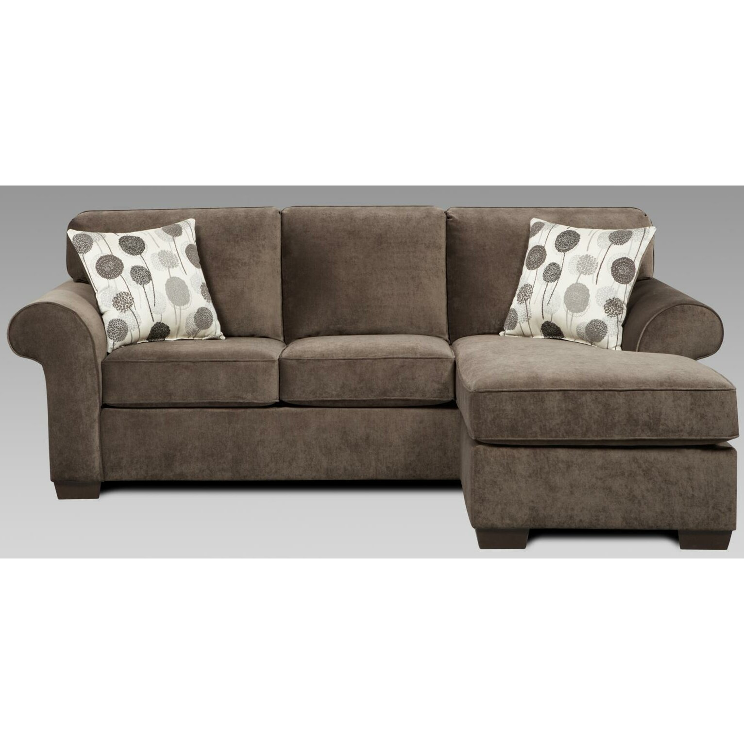 Three posts columbus reversible chaise sectional reviews for Sofa chaise 1 lugar