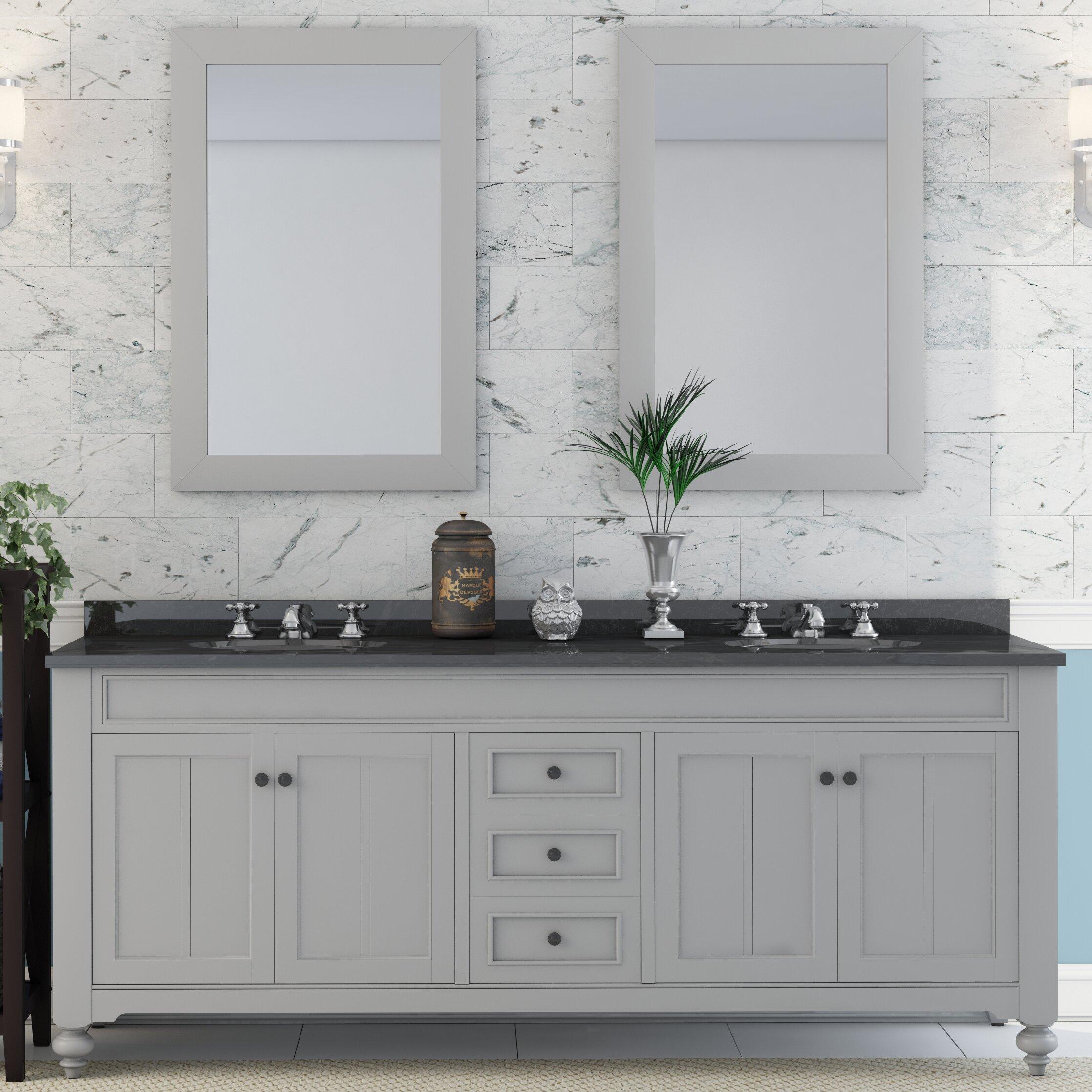 Three Posts Latimer 72 Quot Double Sink Bathroom Vanity Set