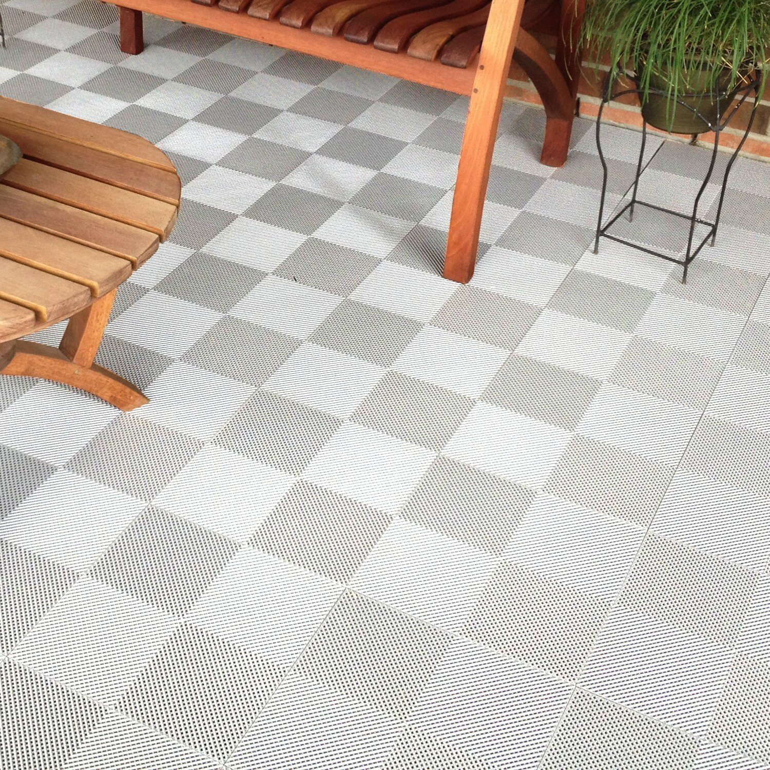 Blocktile 12 X 12 Deck And Patio Flooring Tile In White