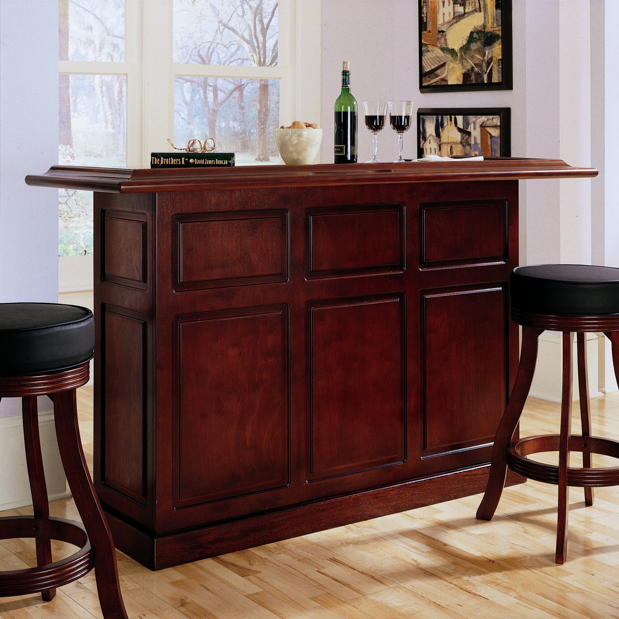 American Heritage Lexington Bar With Wine Storage Reviews Wayfair