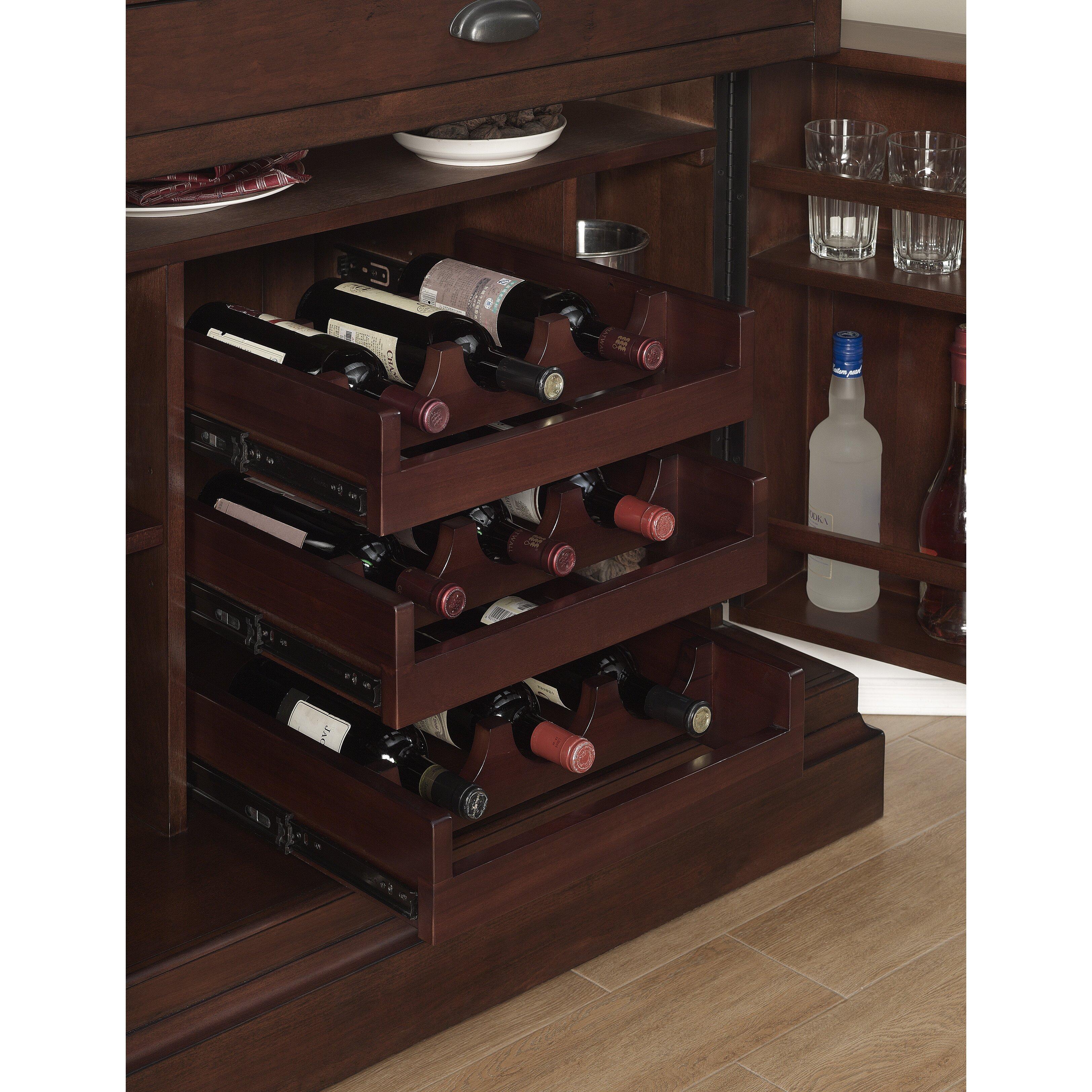 American Heritage Francesca Bar Cabinet With Wine Storage