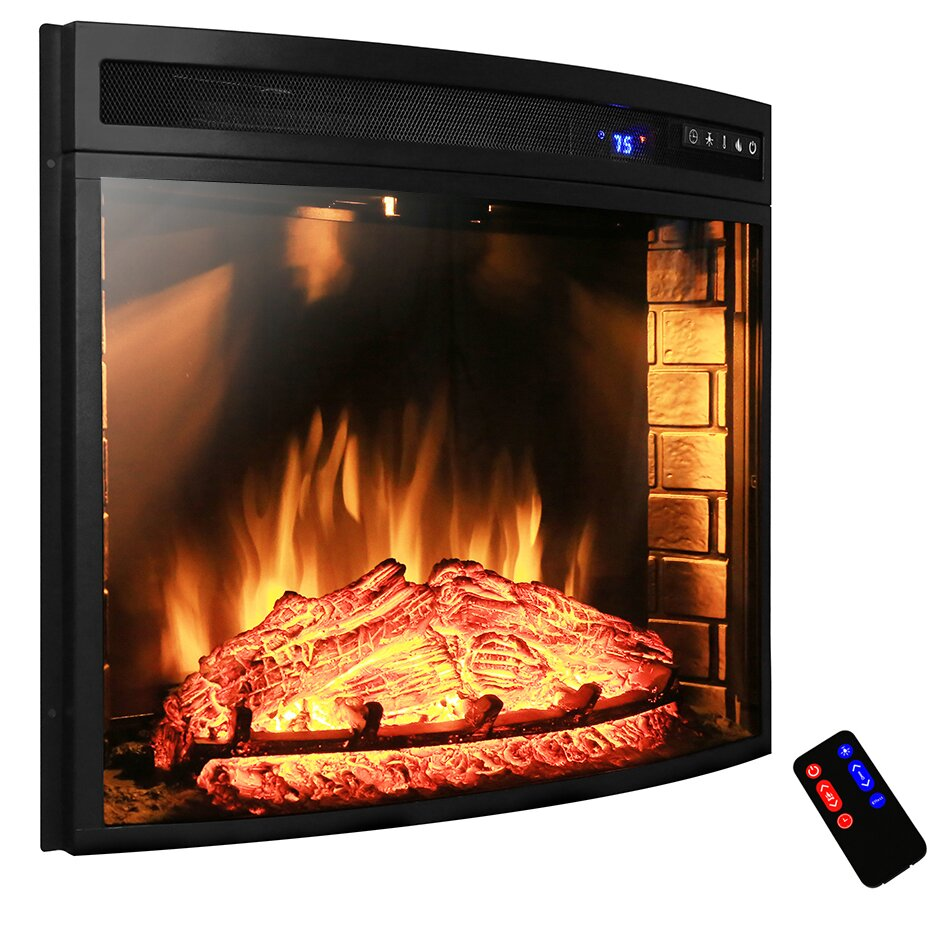 Akdy Curved Wall Mount Electric Fireplace Insert Reviews Wayfair