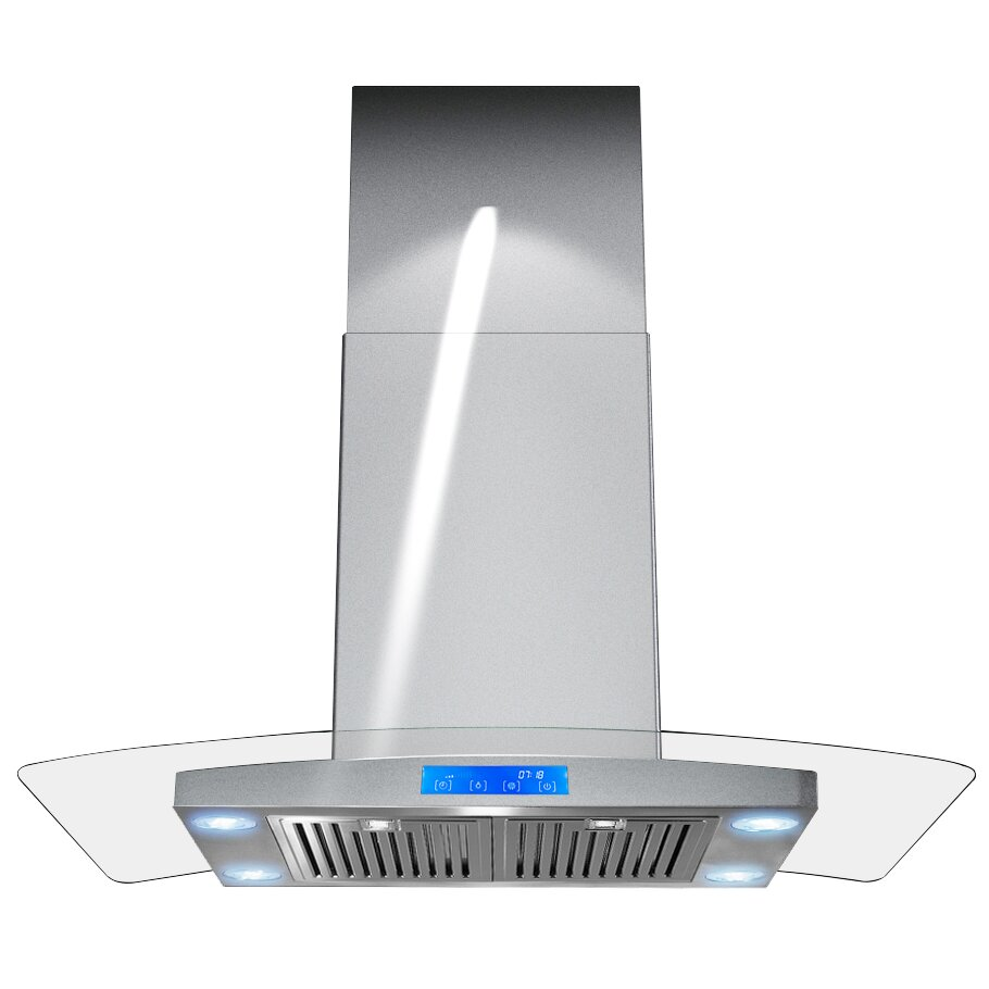 AKDY 30quot 400 CFM Convertible Island Range Hood amp Reviews  : 30 870 CFM Island Mount Range Hood with Touch Panel from www.wayfair.com size 910 x 910 jpeg 49kB