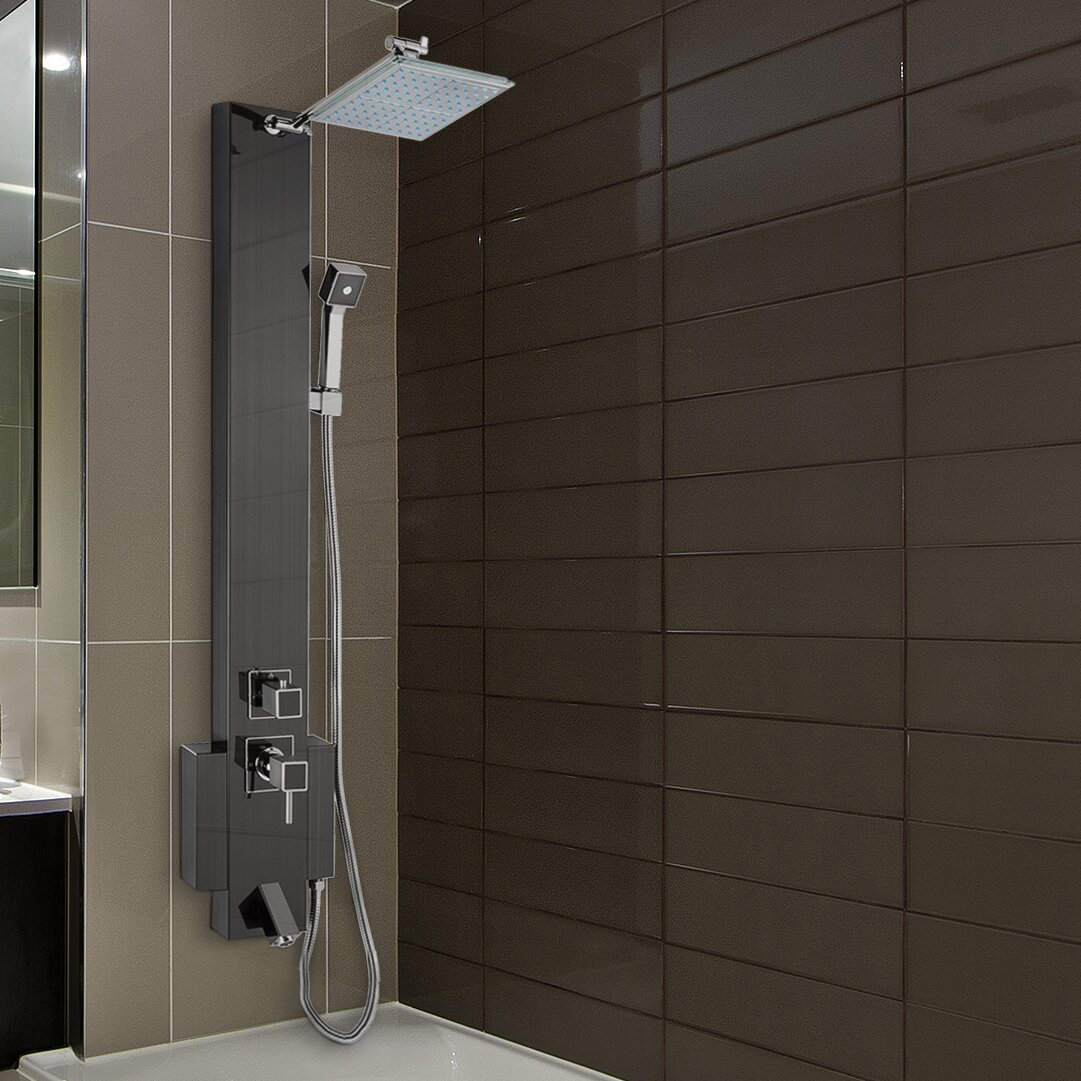 Akdy Shower Panel Tower Unit Amp Reviews Wayfair