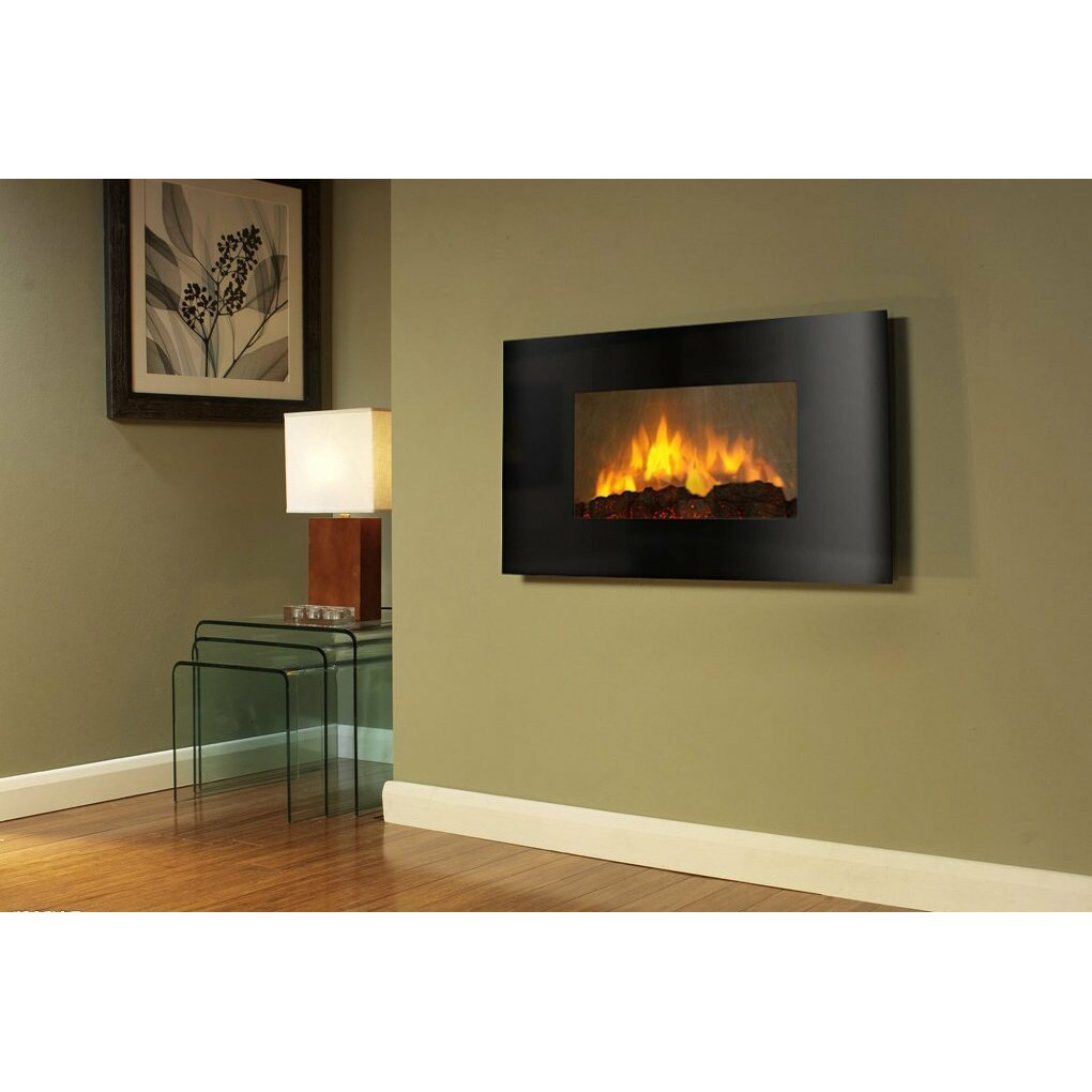AKDY Curved Wall Mount Electric Fireplace & Reviews