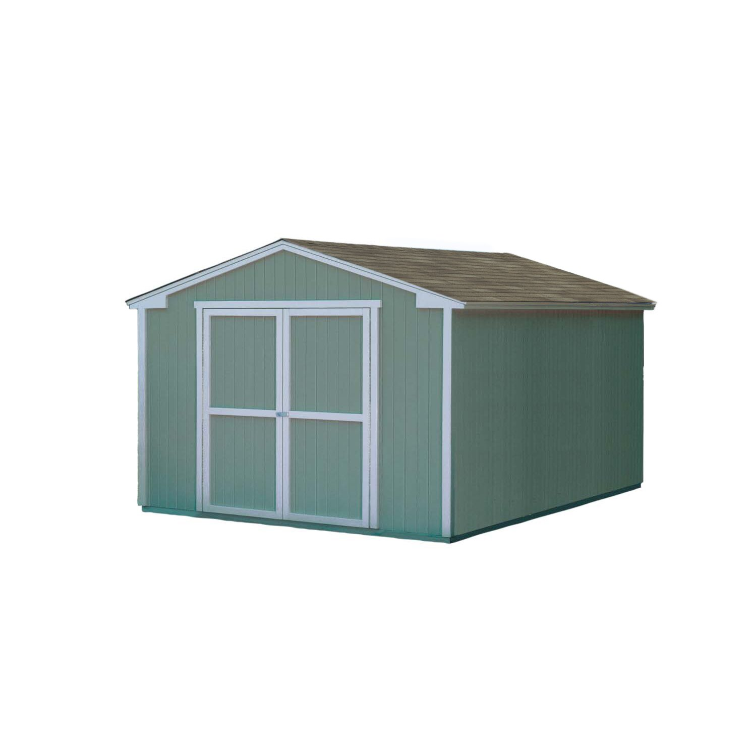 Handy home cumberland 10 ft x 12 ft storage shed for 10 x 18 square feet