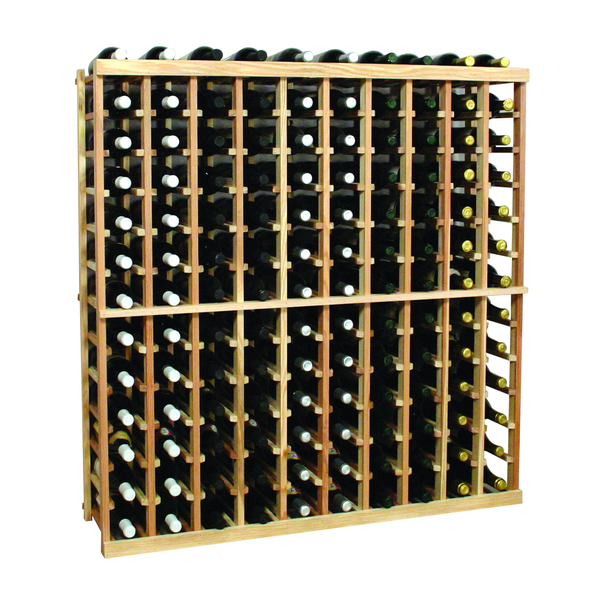 Wine cellar vintner series 130 bottle floor wine rack for Floor wine rack