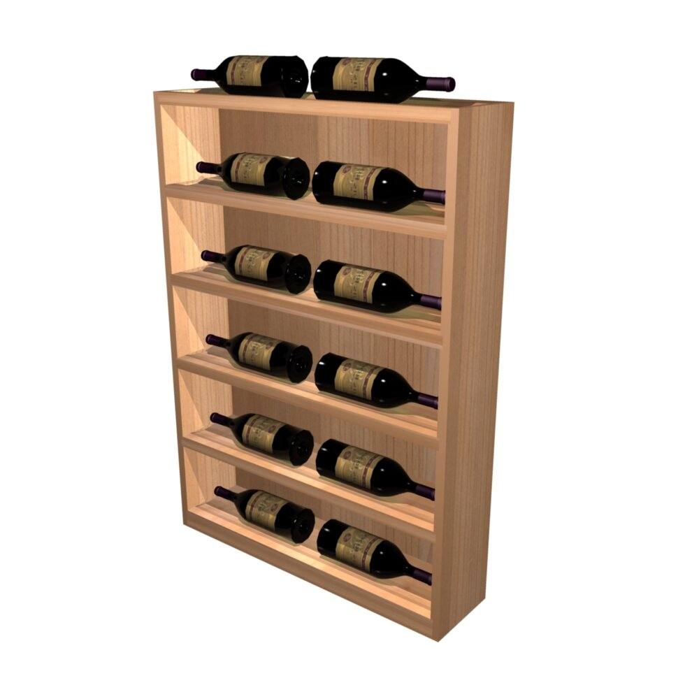 Wine cellar designer series 12 bottle floor wine rack for Floor wine rack