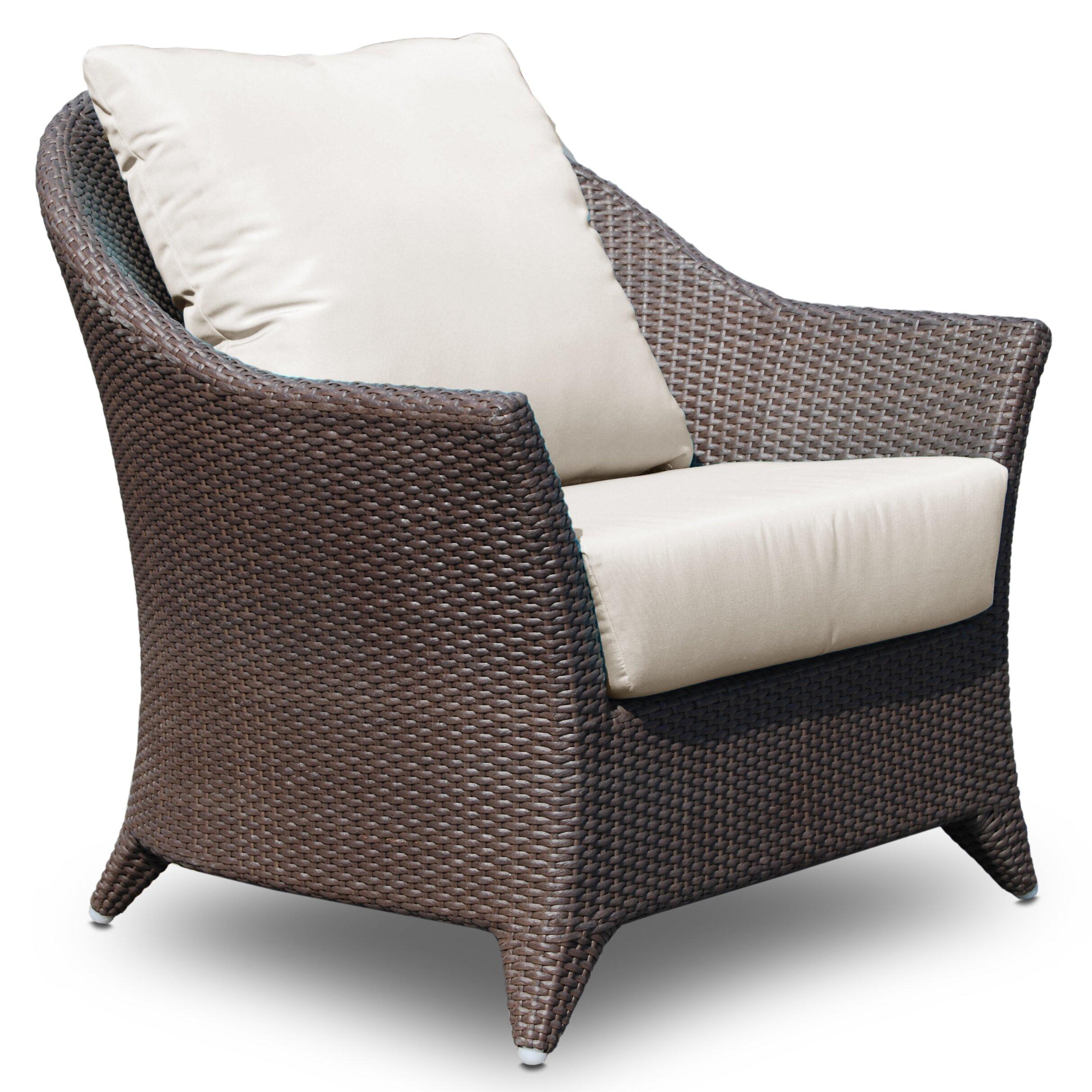 Hospitality Rattan Kenya Arm Chair with Cushion | Wayfair