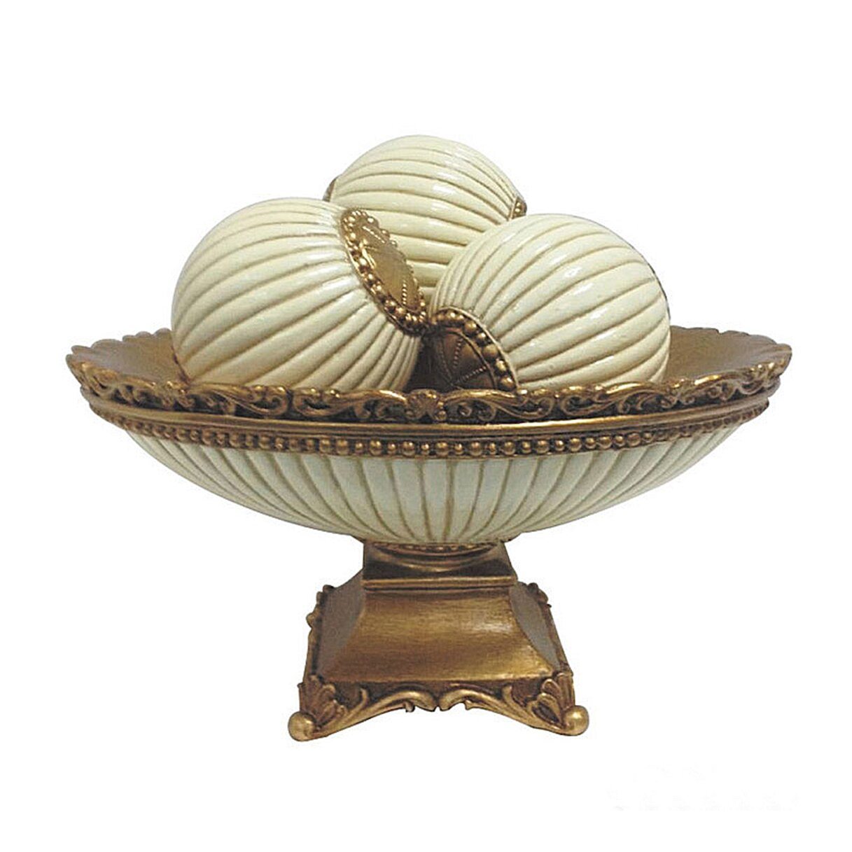 D 39 lusso designs desiree 4 piece bowl with orb set for Modern decorative pieces