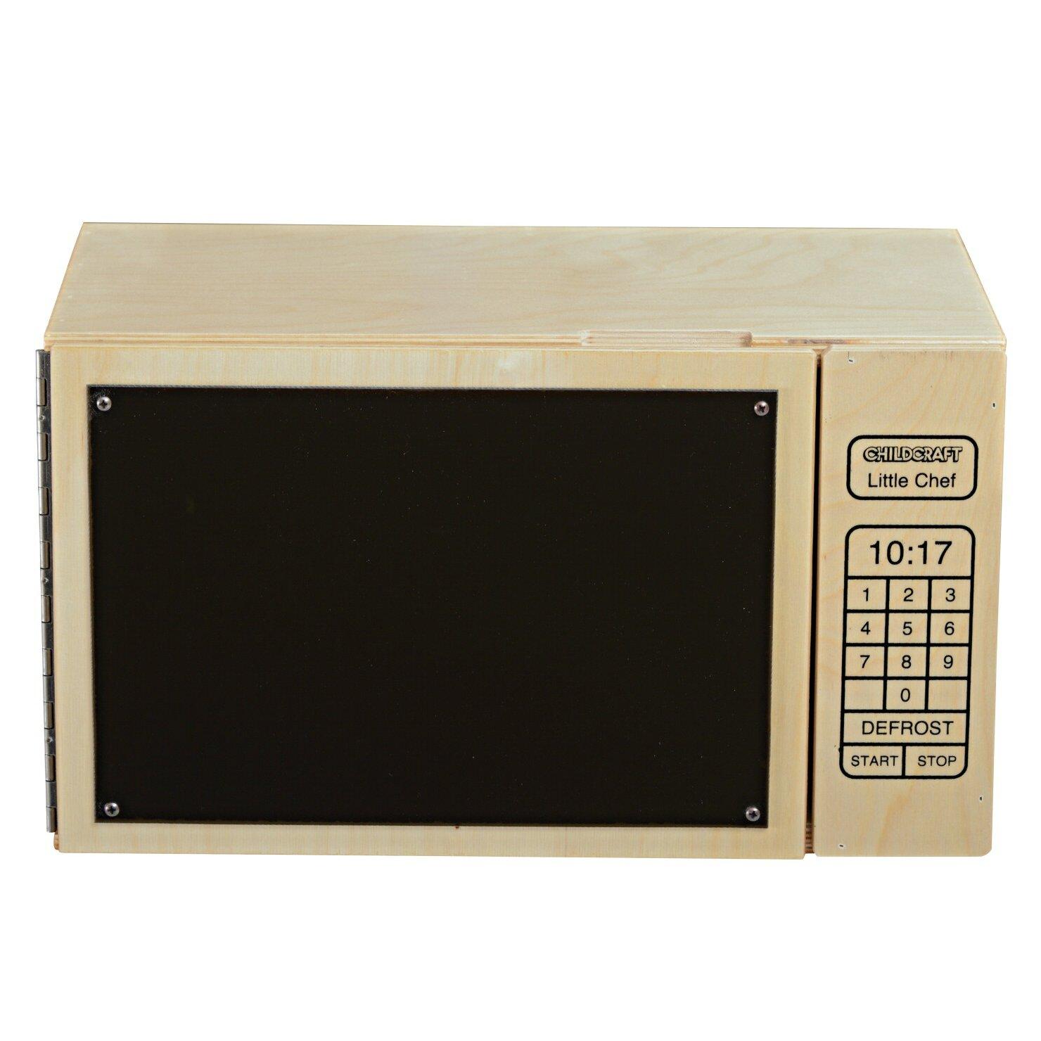 Childcraft kitchen play little chef microwave oven wayfair for Child craft play kitchen