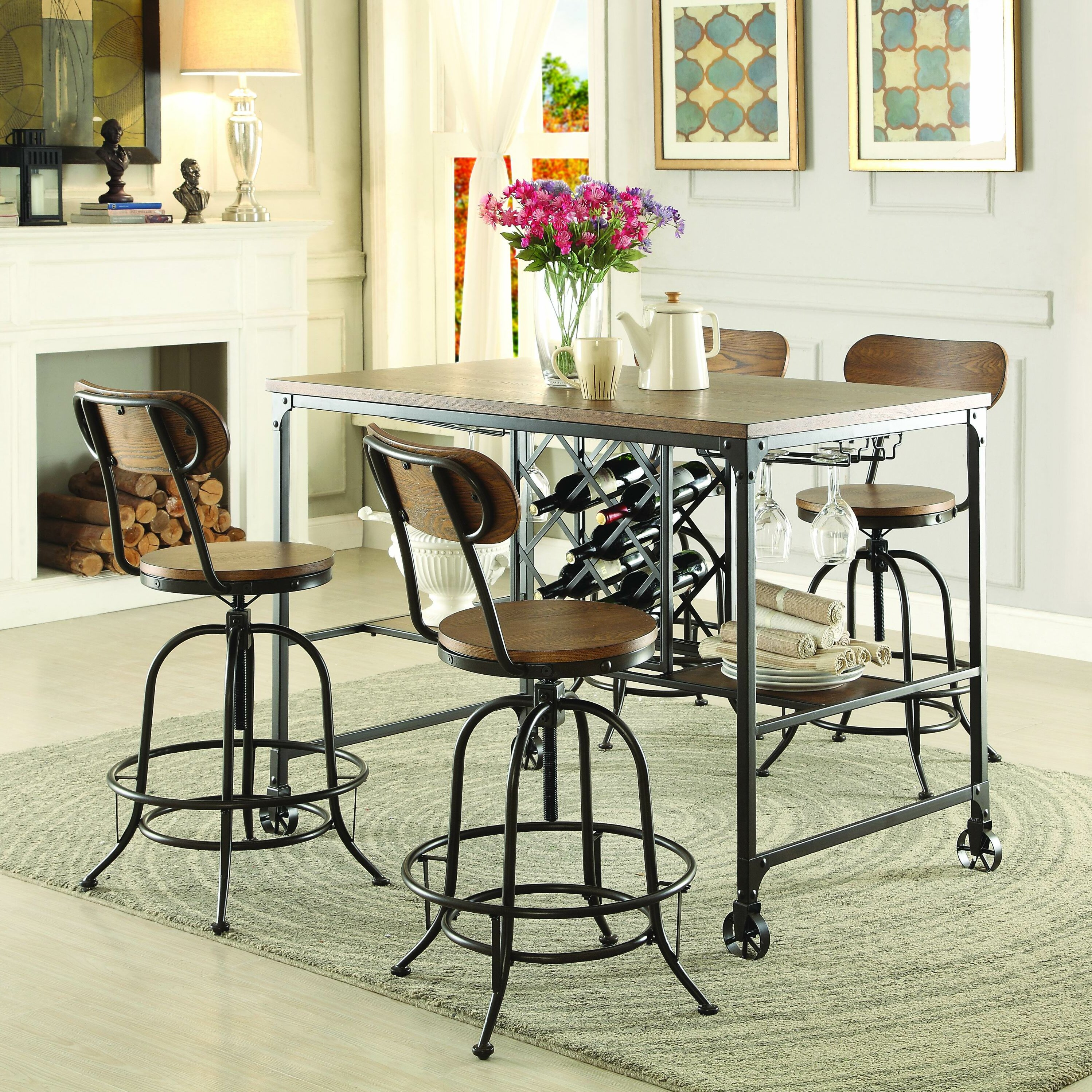 Homelegance Angstrom Counter Height Dining Table Reviews Wayfair
