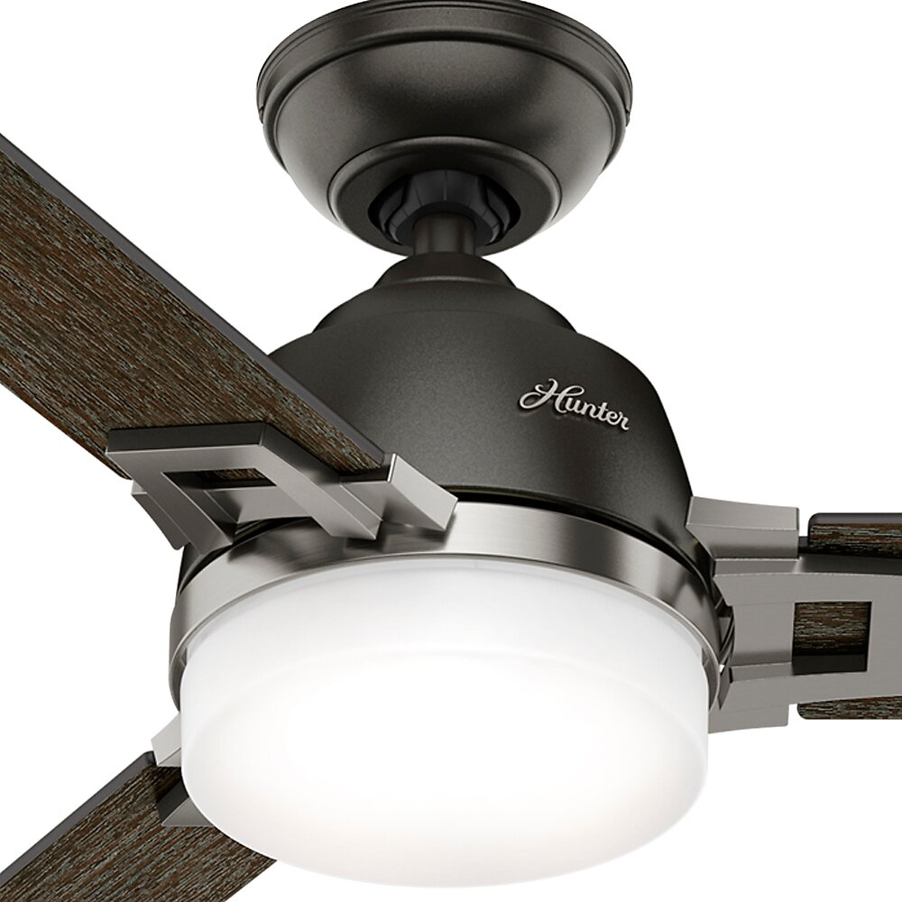 Hunter Fan 48 Leoni 3 Blade Ceiling Fan With Remote And