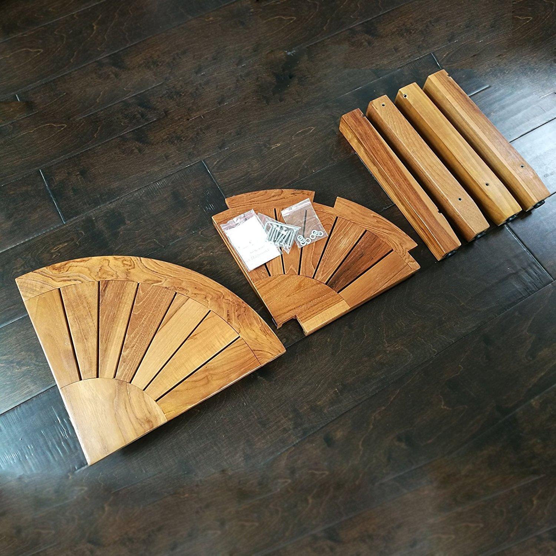 Welland industries llc 2 tier teak shower seat wayfair for Abanos furniture industries decoration llc