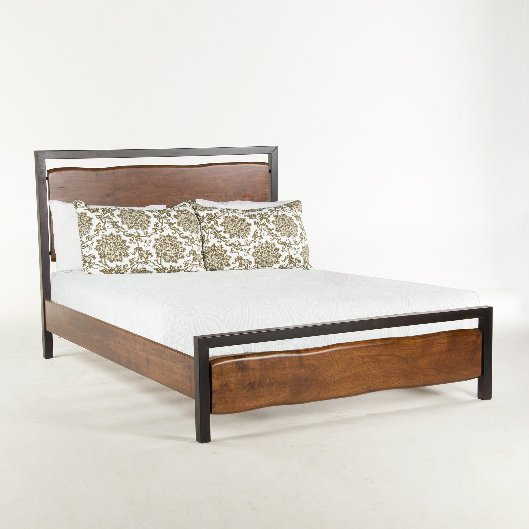 World interiors king platform bed wayfair Platform king bed