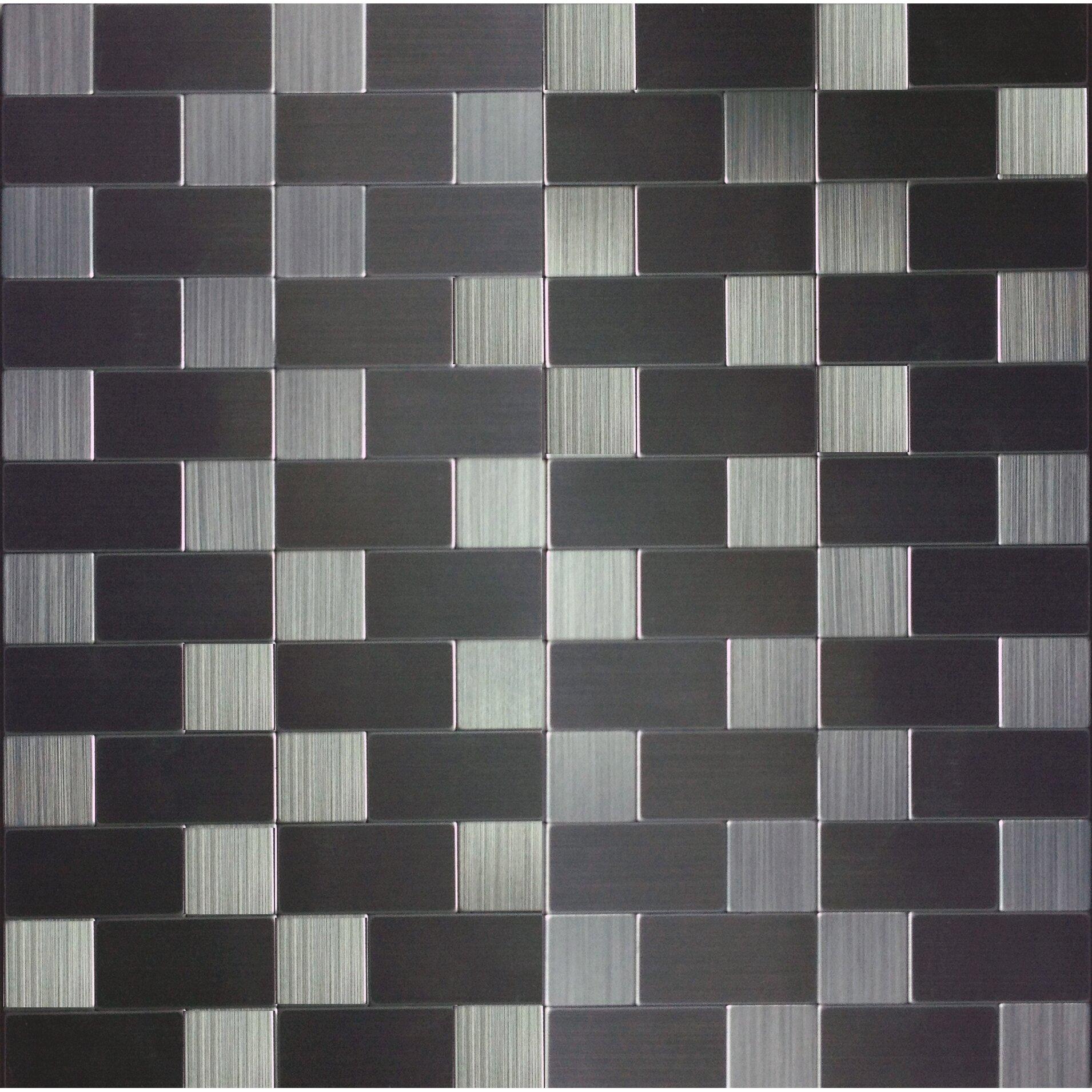 instant mosaic 12 39 39 x 12 39 39 metal peel stick mosaic tile