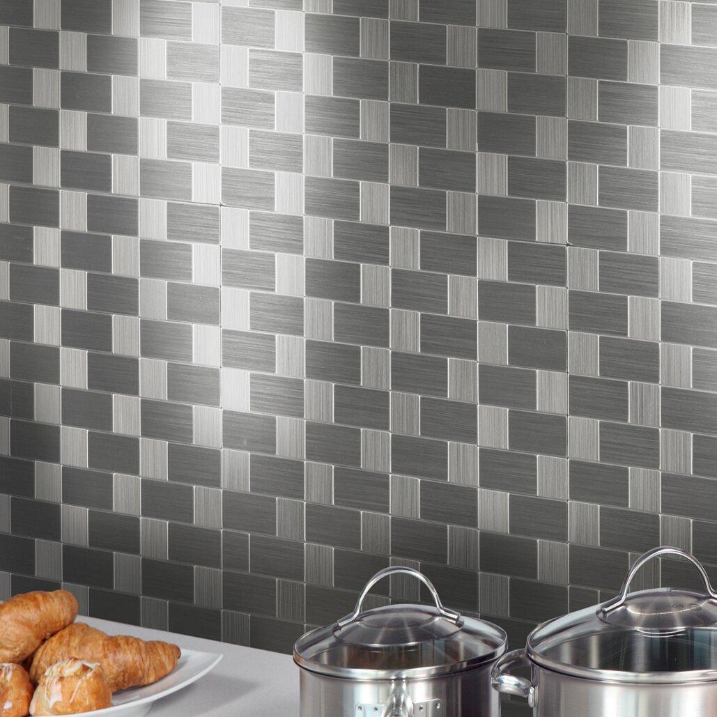Instant Mosaic 12 X 12 Metal Peel Amp Stick Mosaic Tile