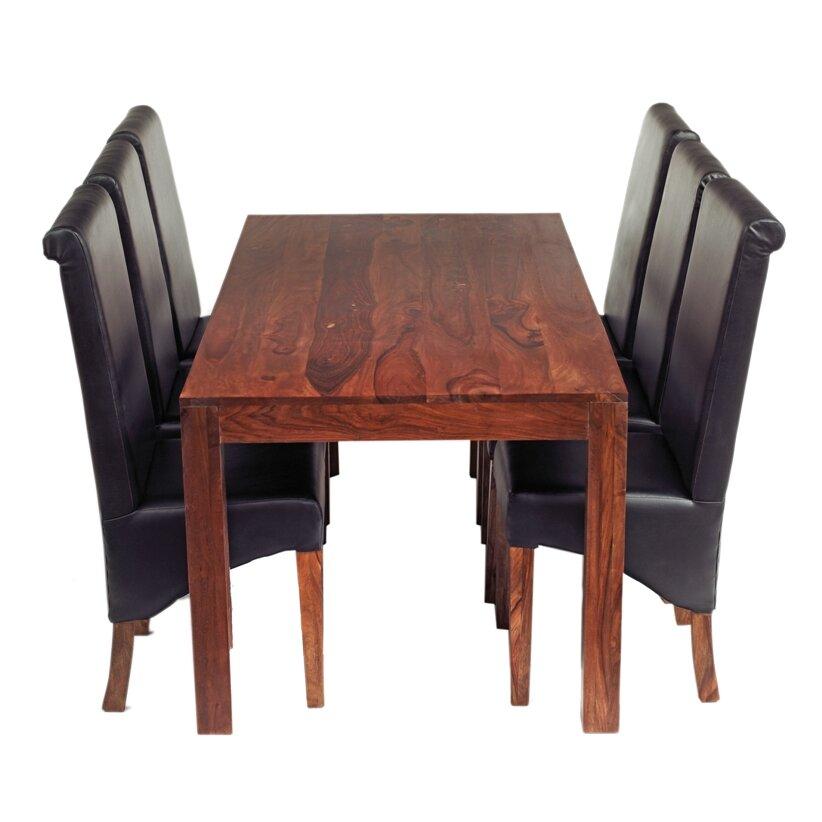 Prestington peyton dining table and 6 chairs wayfair uk for Table and 6 chairs uk