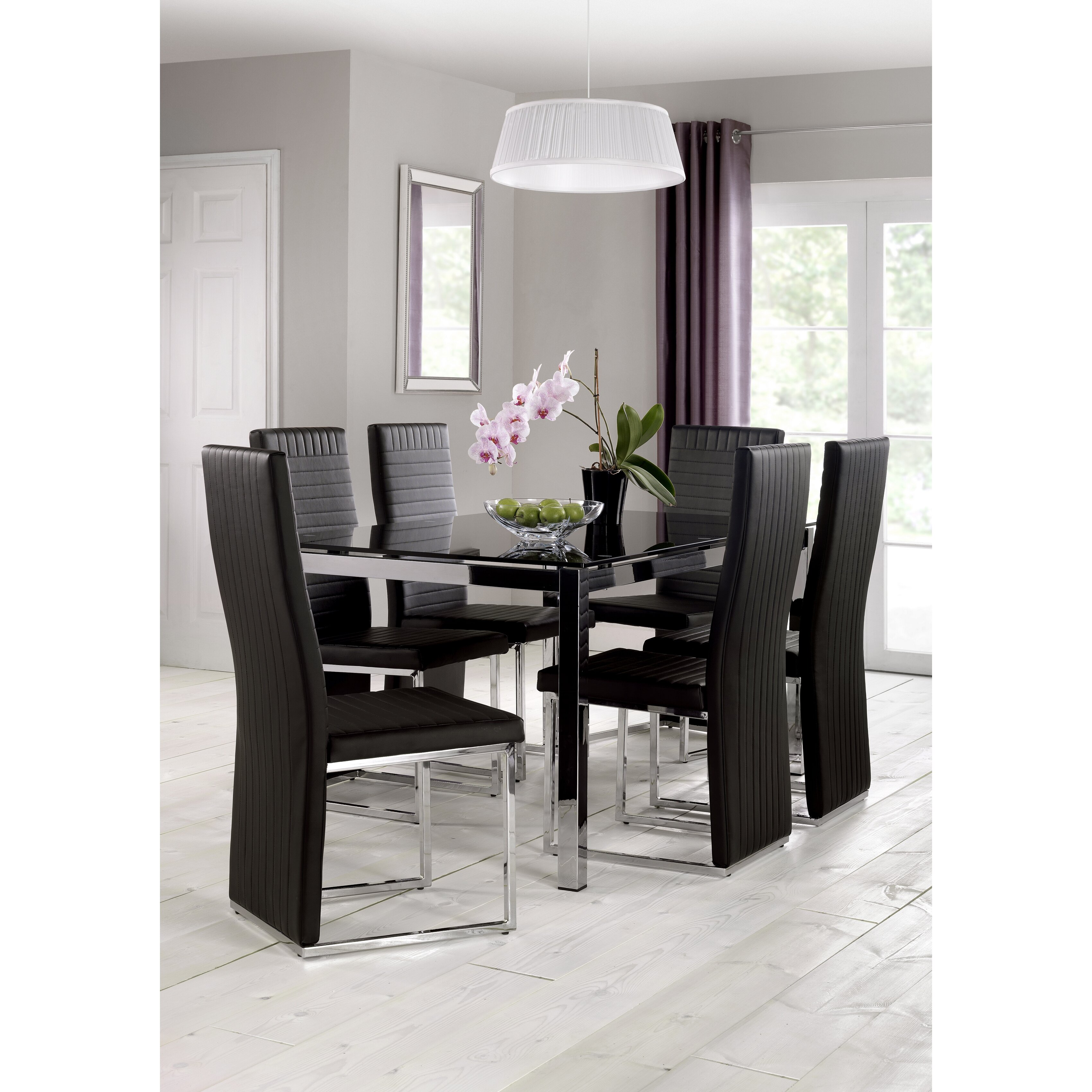 All home neville dining table and 4 chairs wayfair uk for Wayfair furniture dining tables