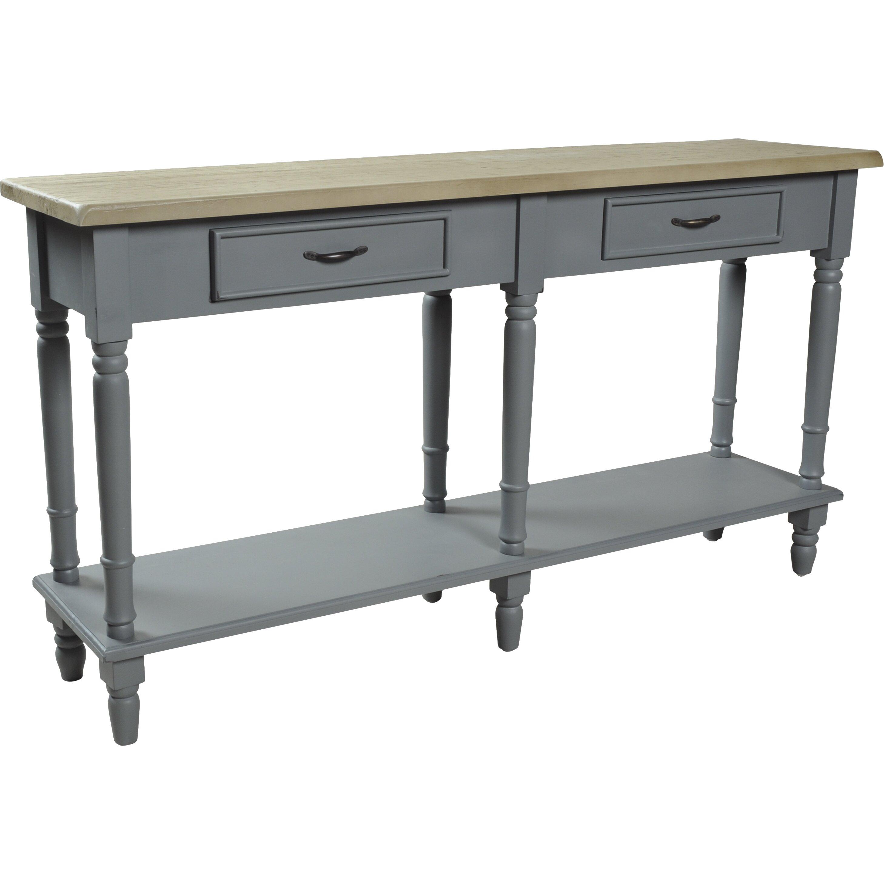 homestead living 2 drawer console table wayfair uk. Black Bedroom Furniture Sets. Home Design Ideas