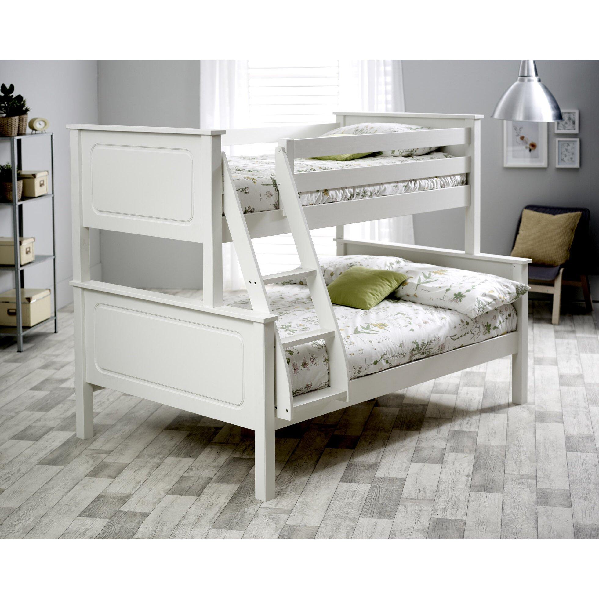 homestead living ashley triple sleeper bunk bed with mattresses wayfair uk. Black Bedroom Furniture Sets. Home Design Ideas