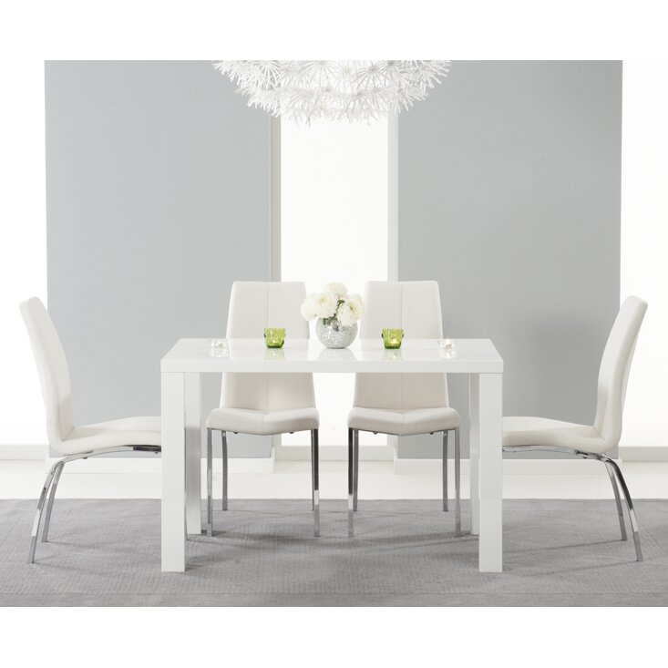 Home Etc Neveah Dining Table And 4 Chairs Wayfair Uk
