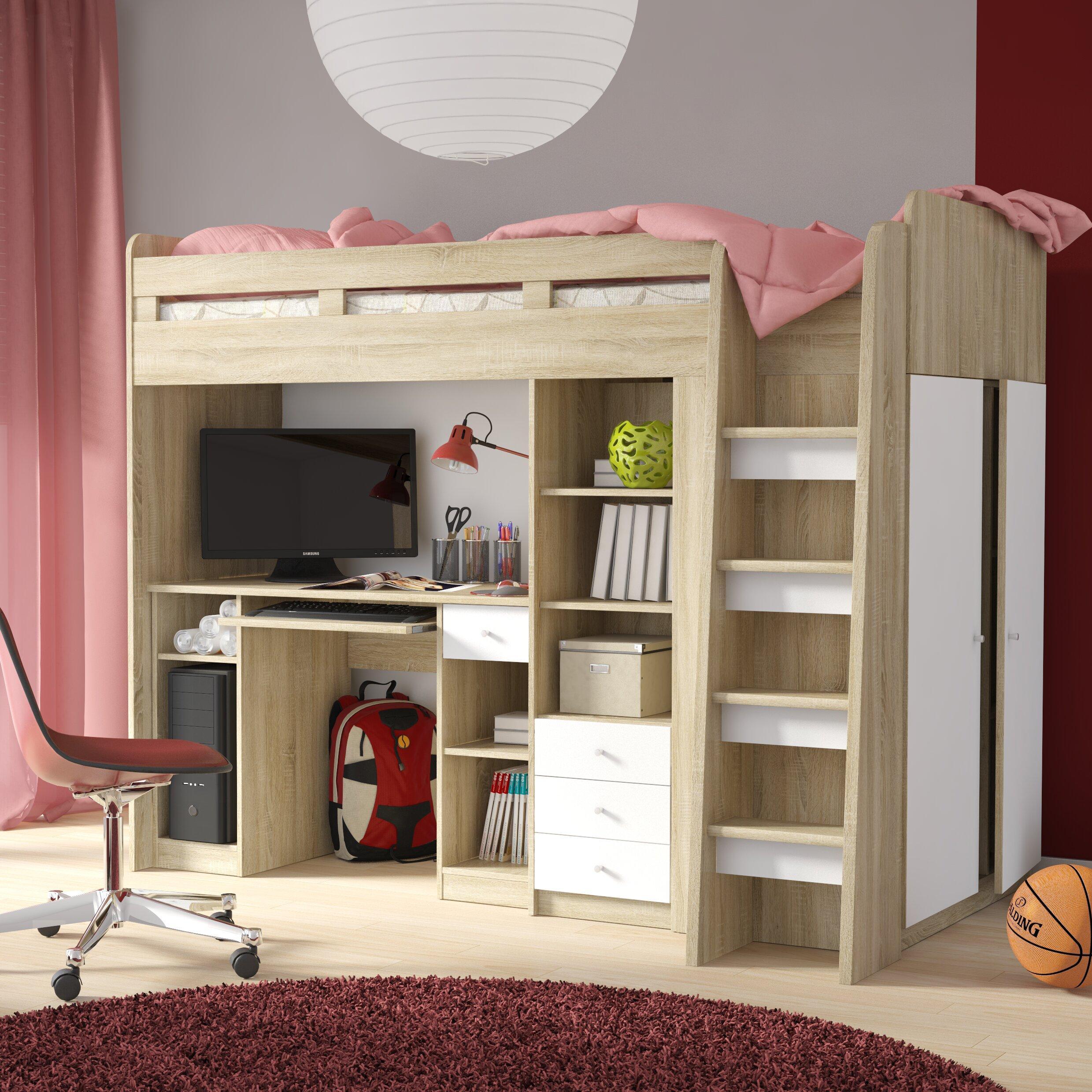home etc single high sleeper bed with storage reviews wayfair uk. Black Bedroom Furniture Sets. Home Design Ideas