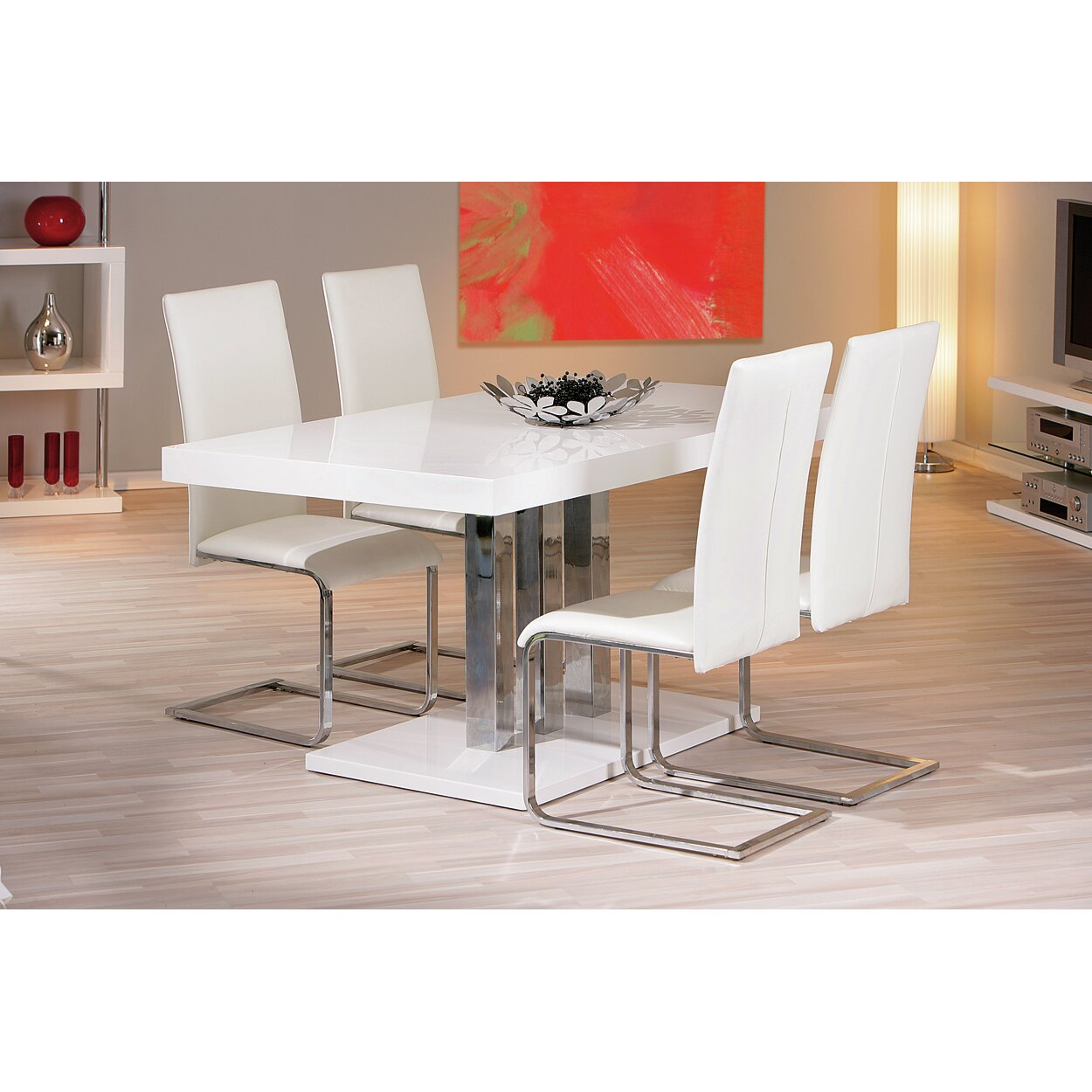 House additions palazzo dining table reviews wayfair uk for Table cuisine blanche