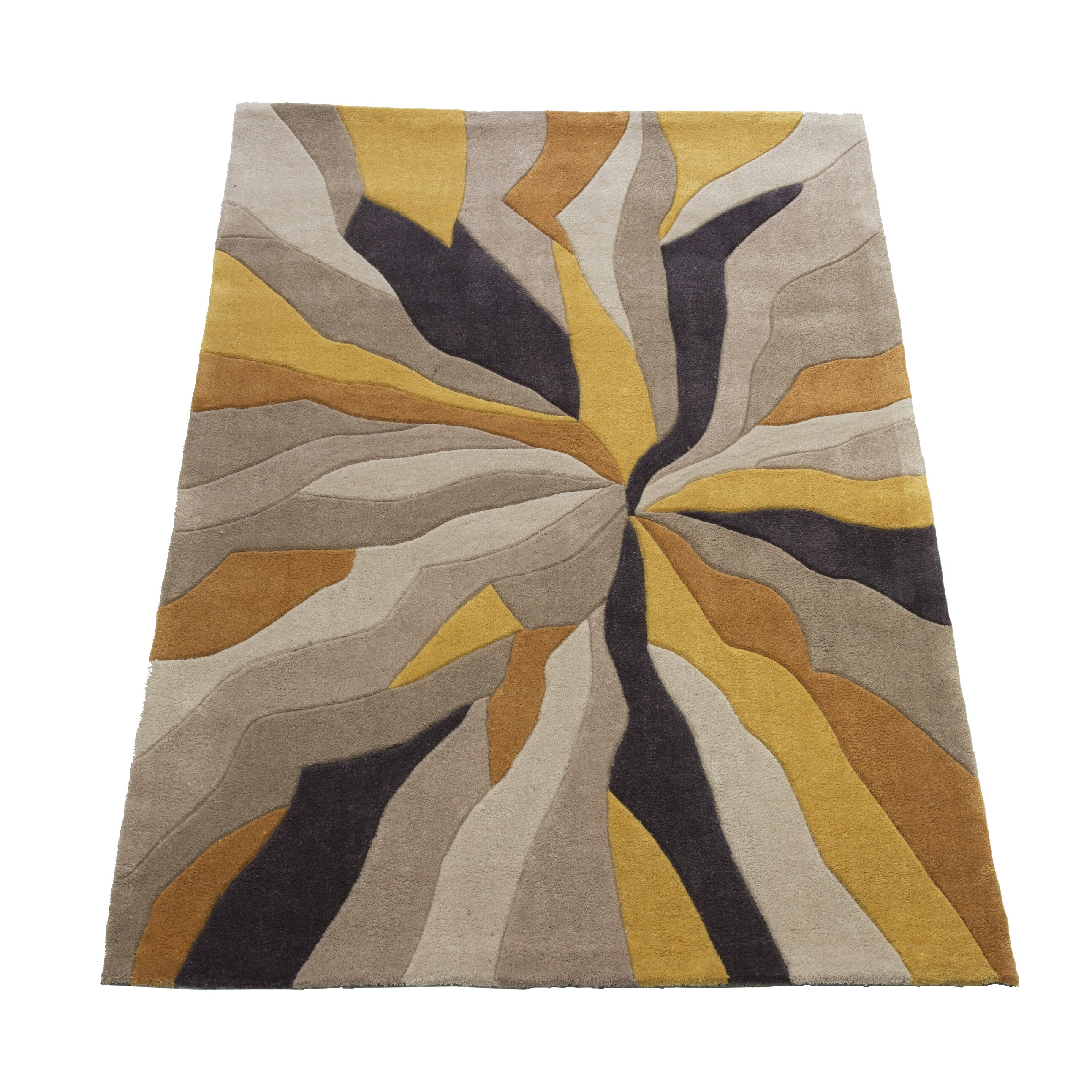 House Additions Ciampa Hand Tufted Grey Yellow Area Rug