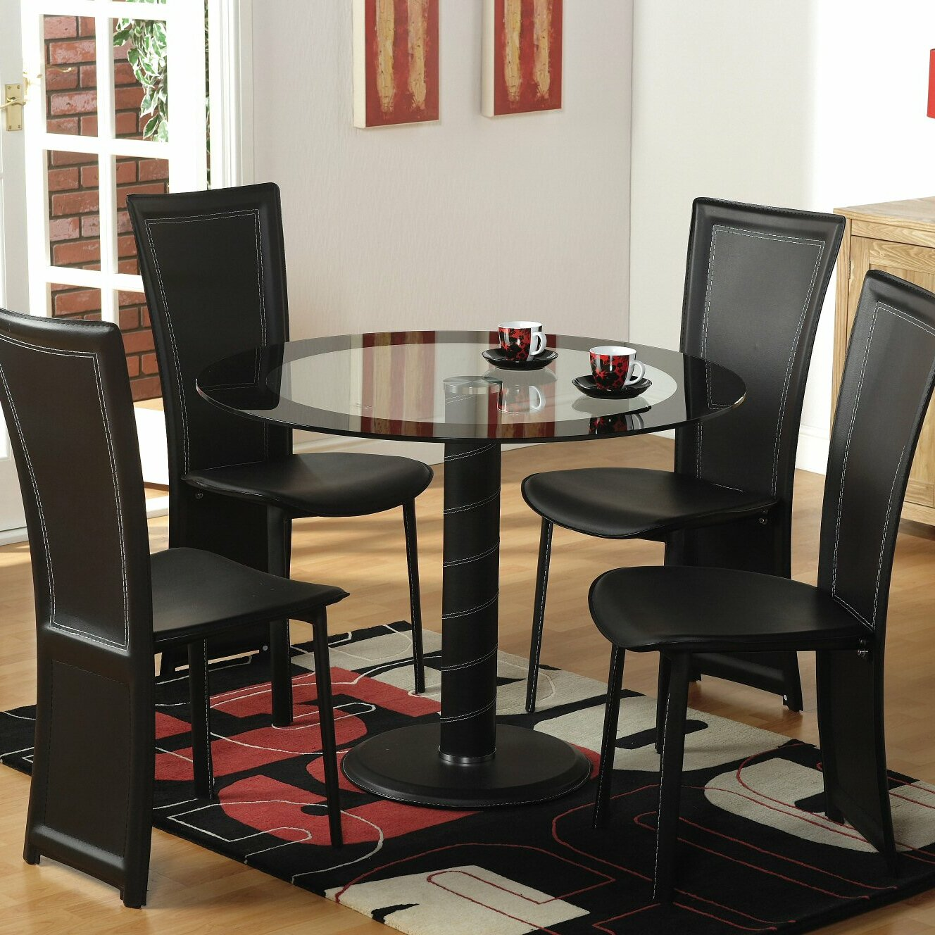 Home Haus Beane Dining Table And 4 Chairs Reviews Wayfair Uk