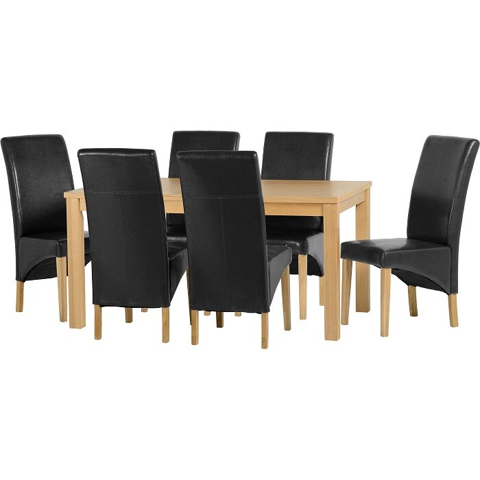 Home Haus Belgravia Dining Table And 6 Chairs Reviews Wayfair Uk