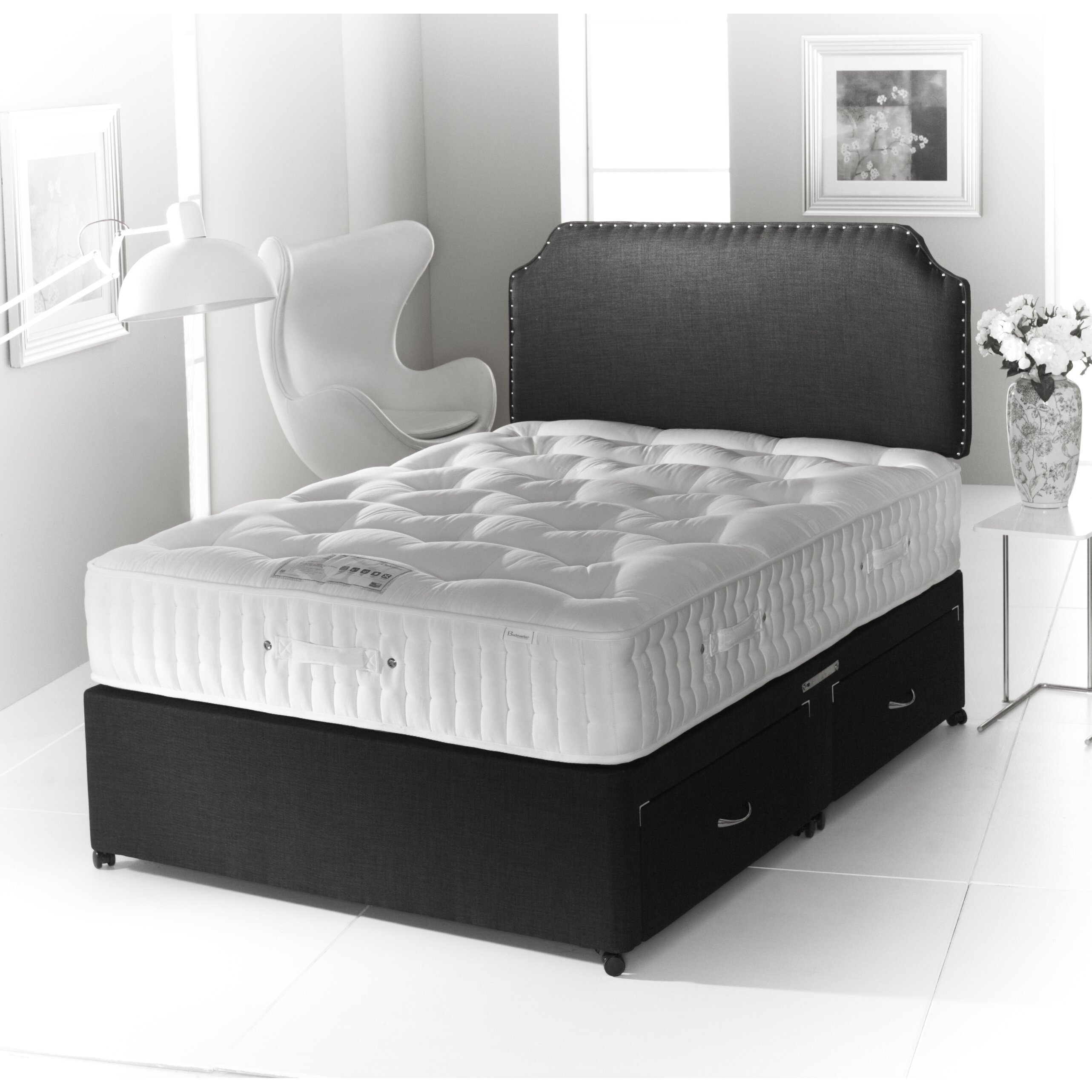 Home haus tennesse pocket sprung 4000 divan bed wayfair uk for Pocket sprung divan beds sale