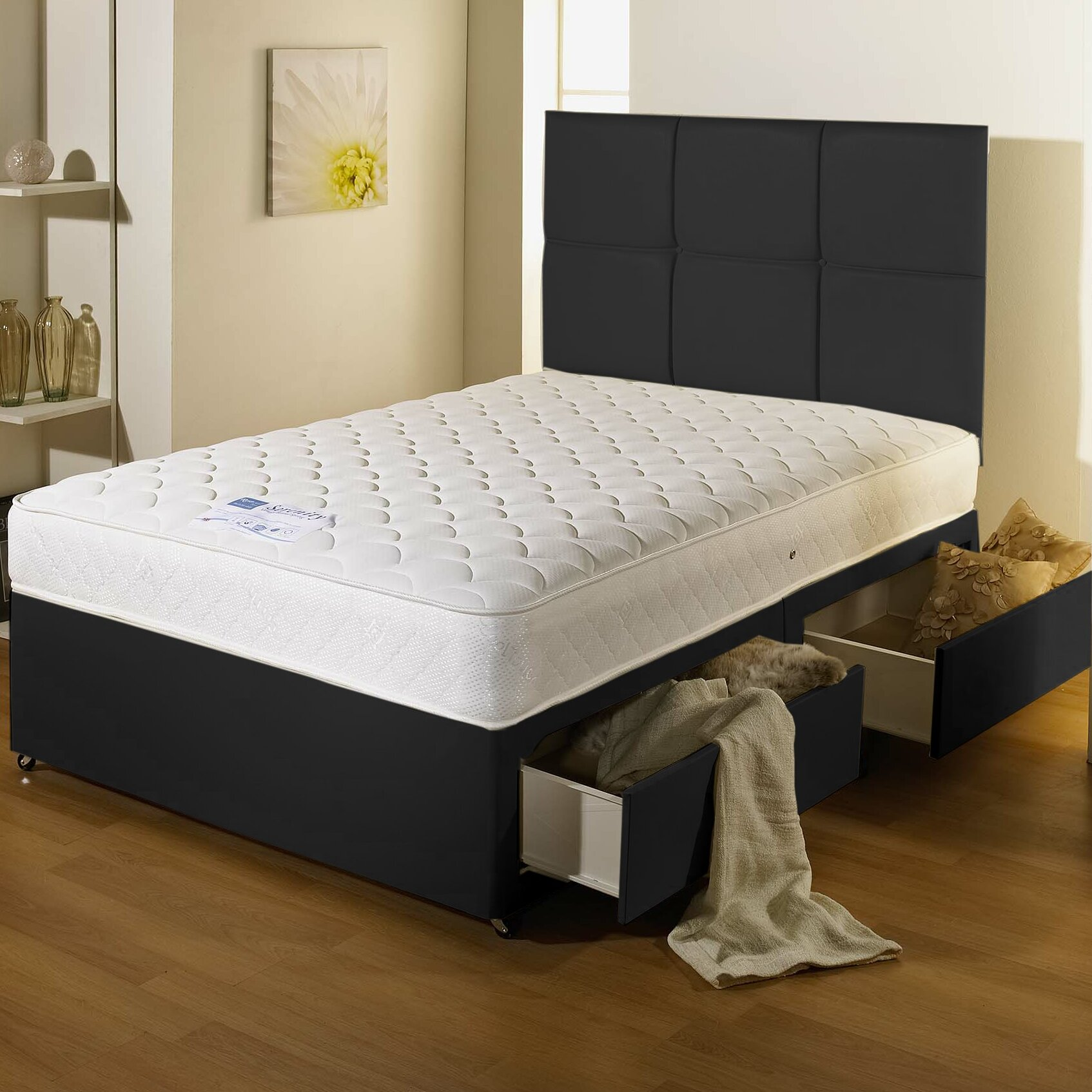 Home haus serena orthopaedic divan bed wayfair uk for Orthopedic divan beds