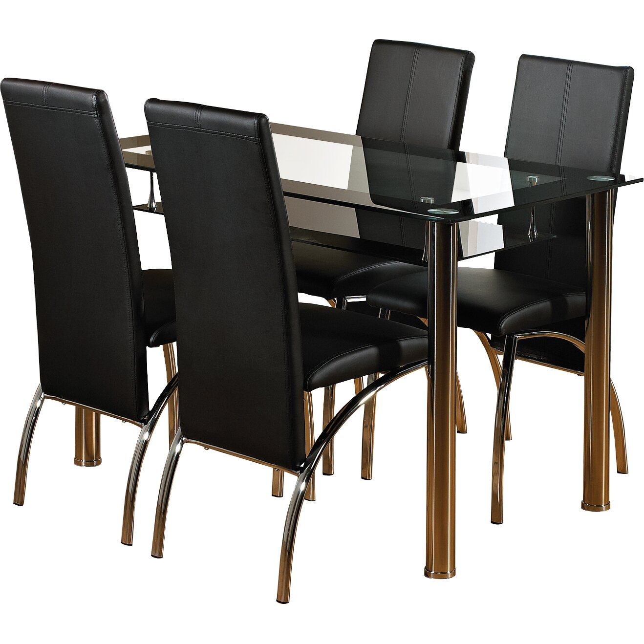 Home Haus Maldon Dining Table And 4 Chairs Reviews Wayfair Uk